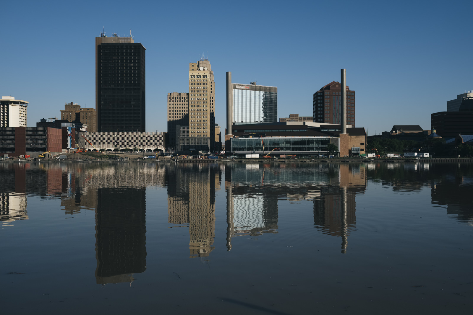 Skyline of downtown Toledo.