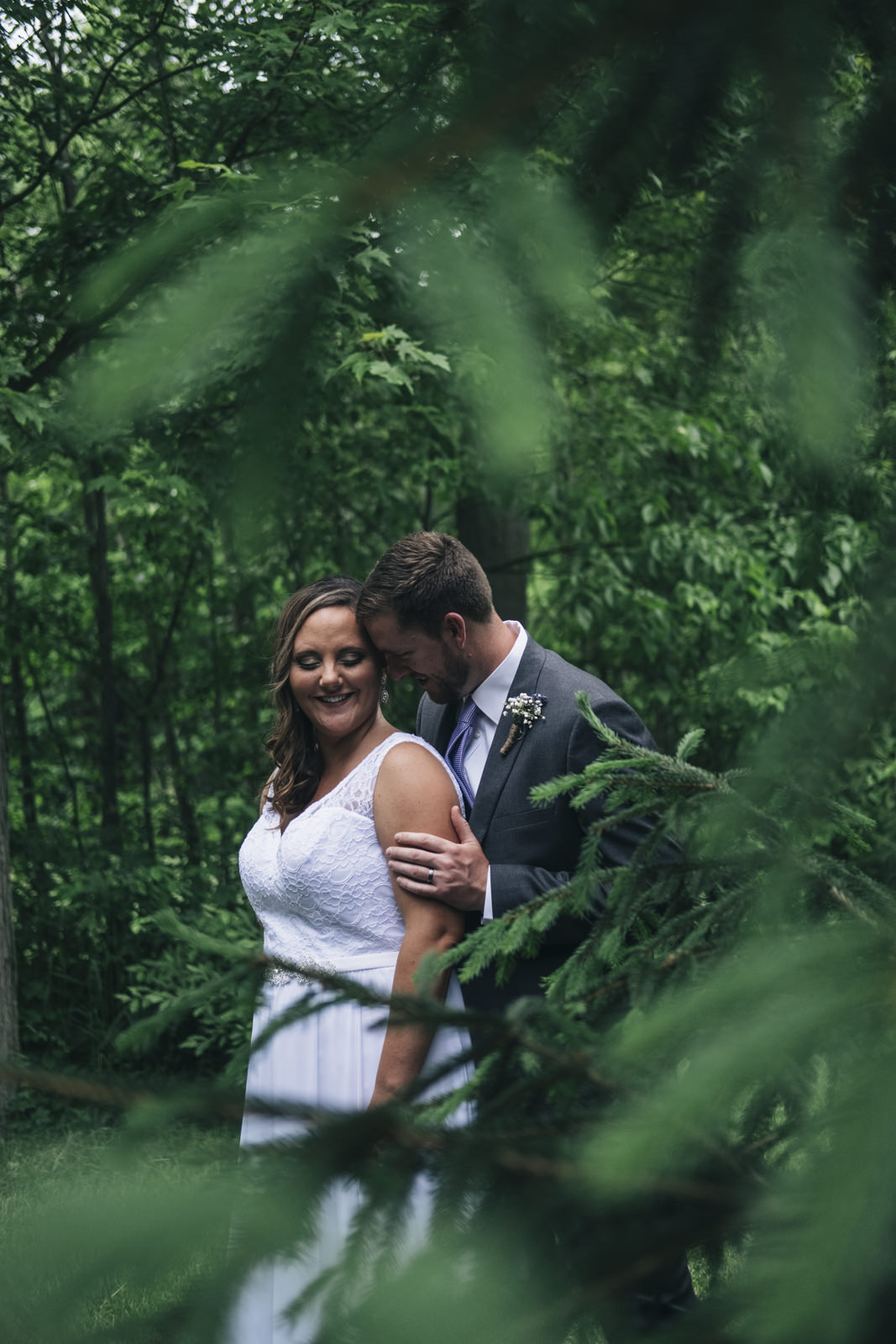 Bride and groom photography at backyard wedding in Whitehouse, Ohio.