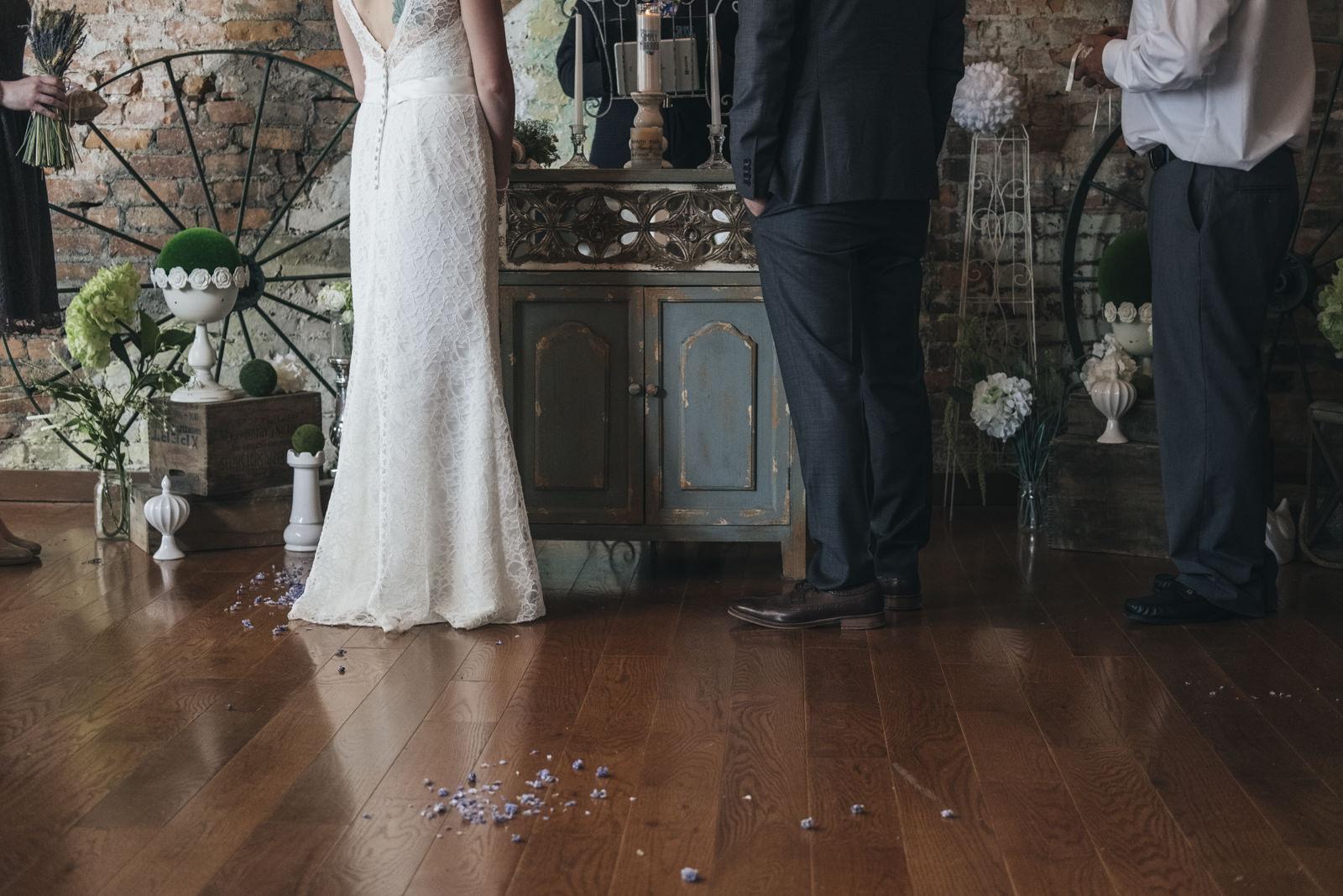 Ceremony in Simply Married in Toledo, Ohio.