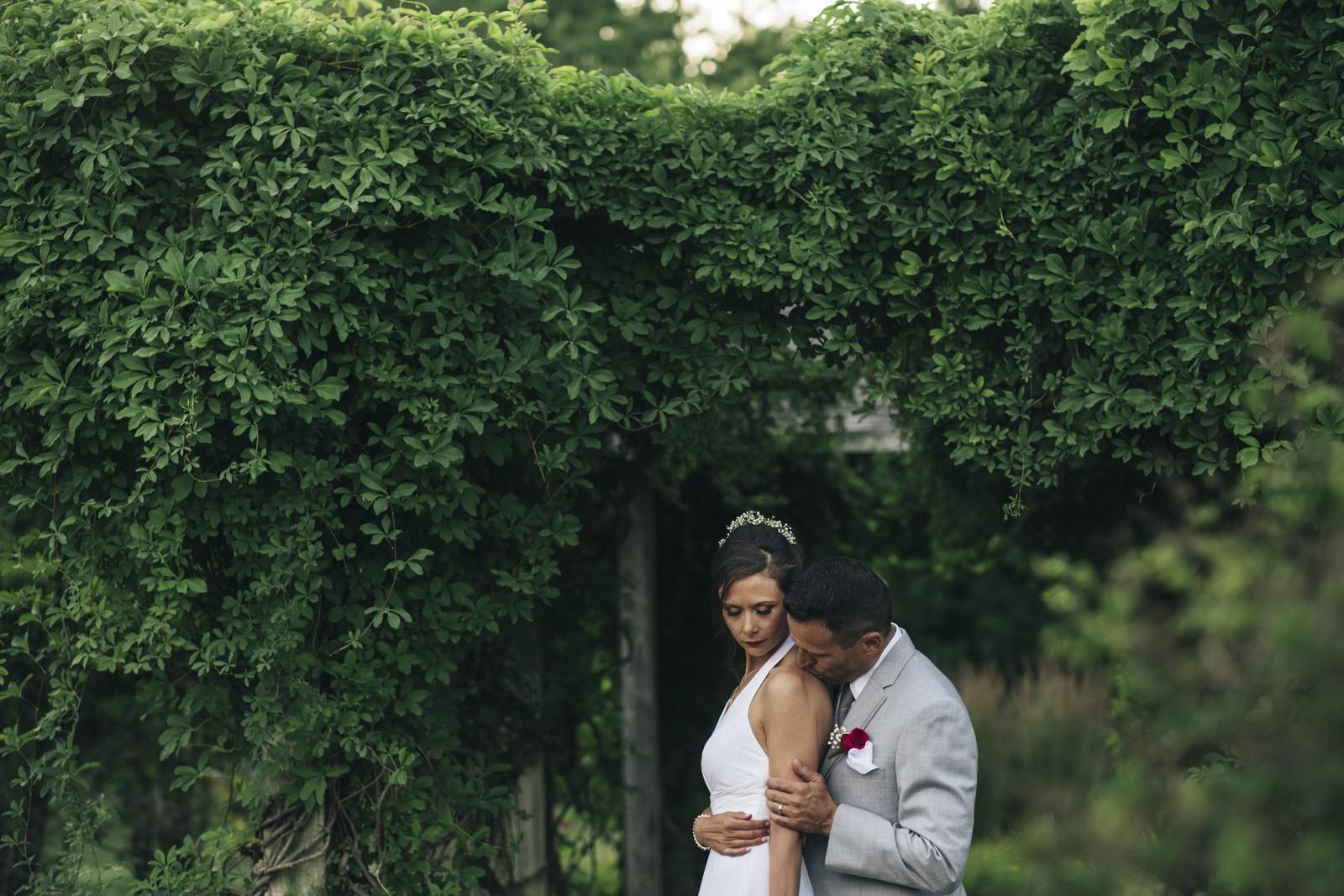 Bride and groom intimate portraits in Ohio.