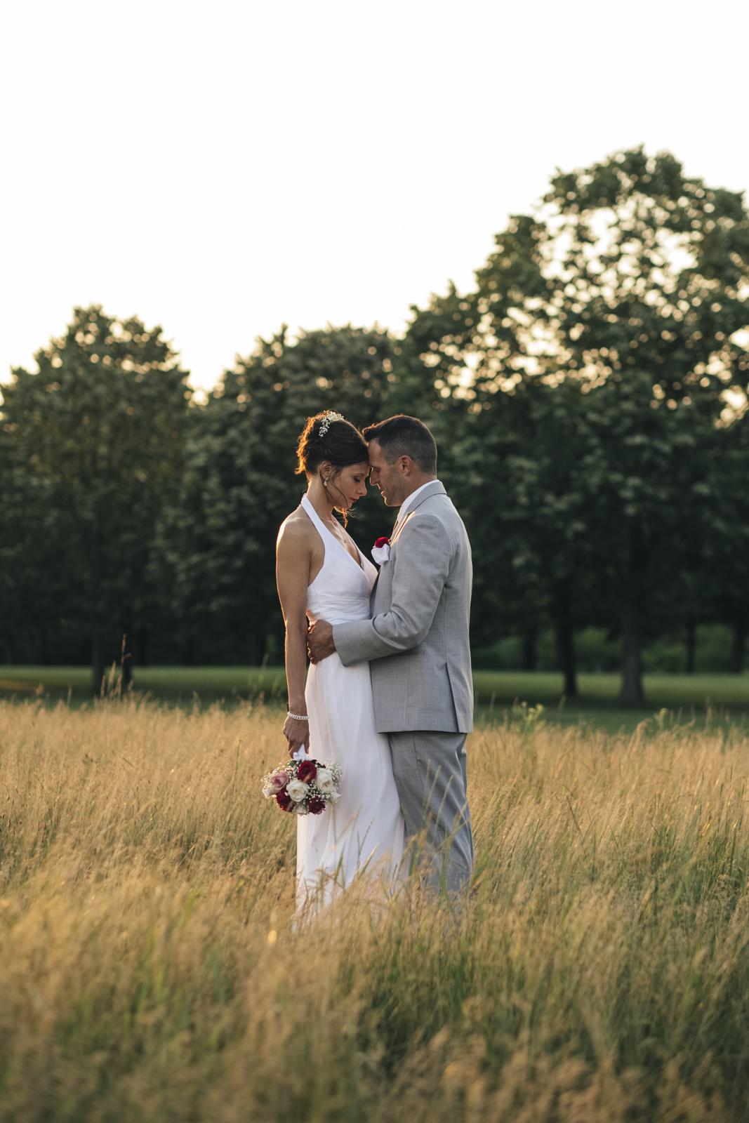 Bride and groom portrait in Ohio.