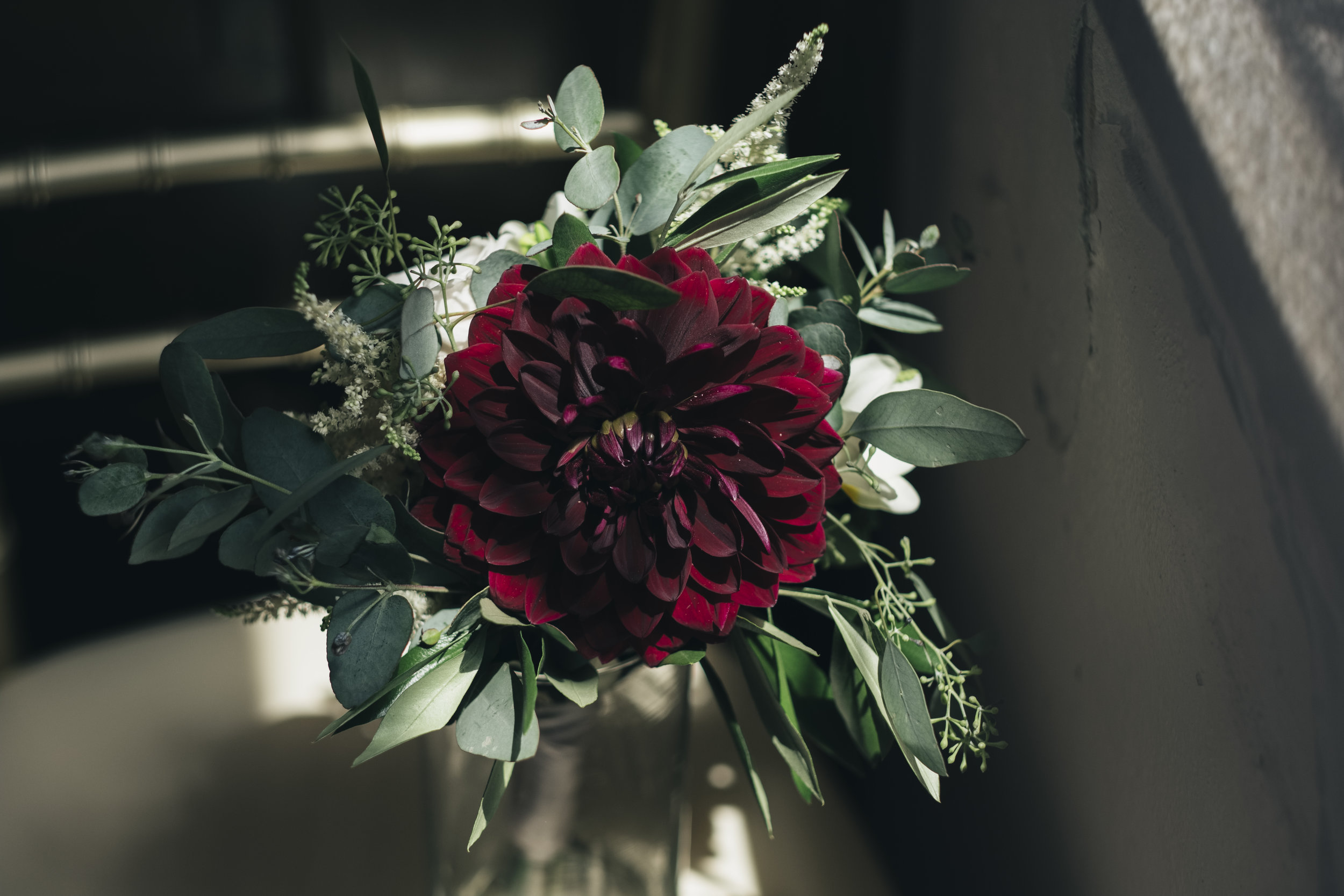 Bridesmaids flowers at Nazareth Hall.