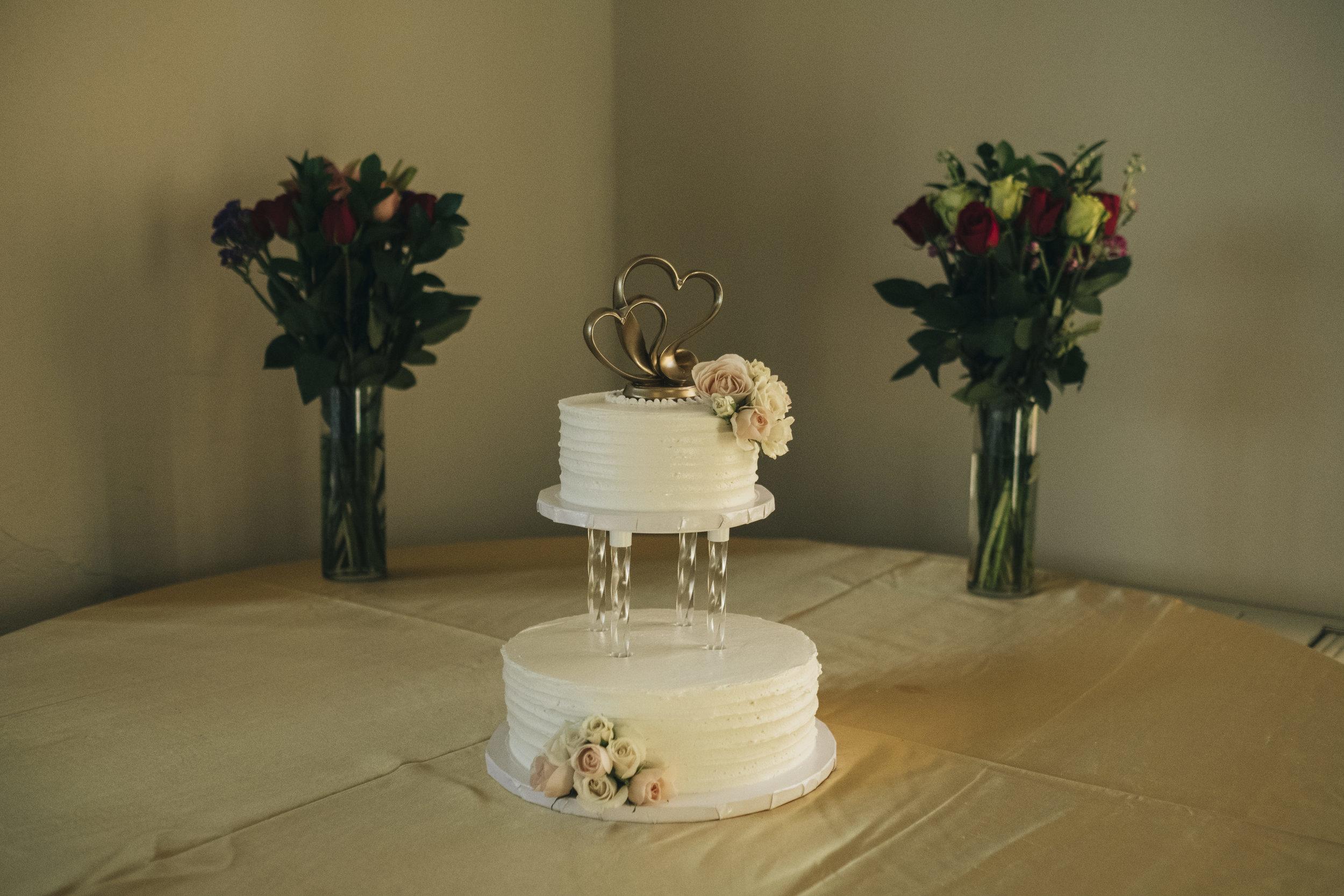 Eston's Bakery wedding cake at Nazareth Hall wedding.