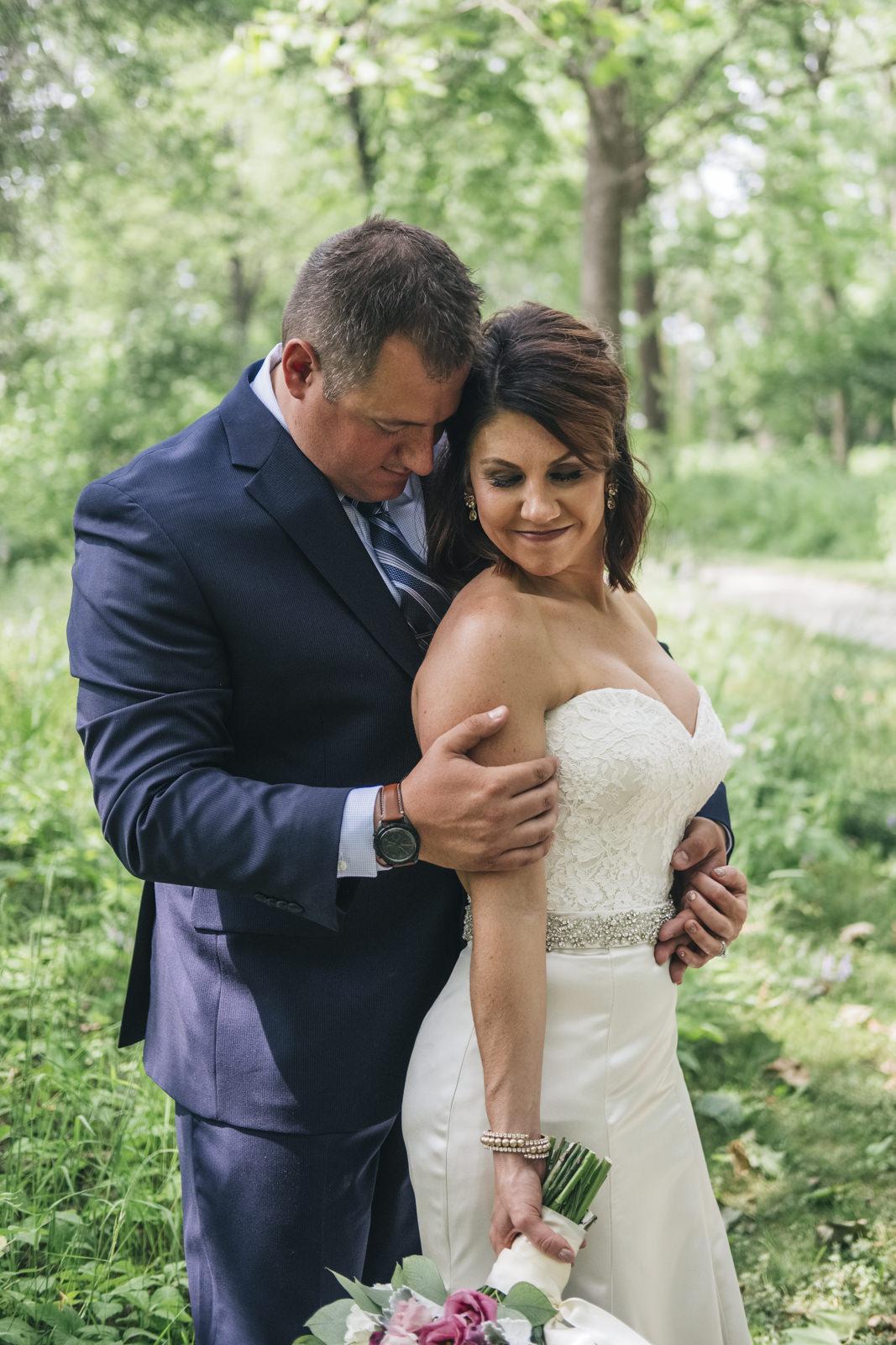 Wedding picture taken at Swan Creek Metropark in Toledo.