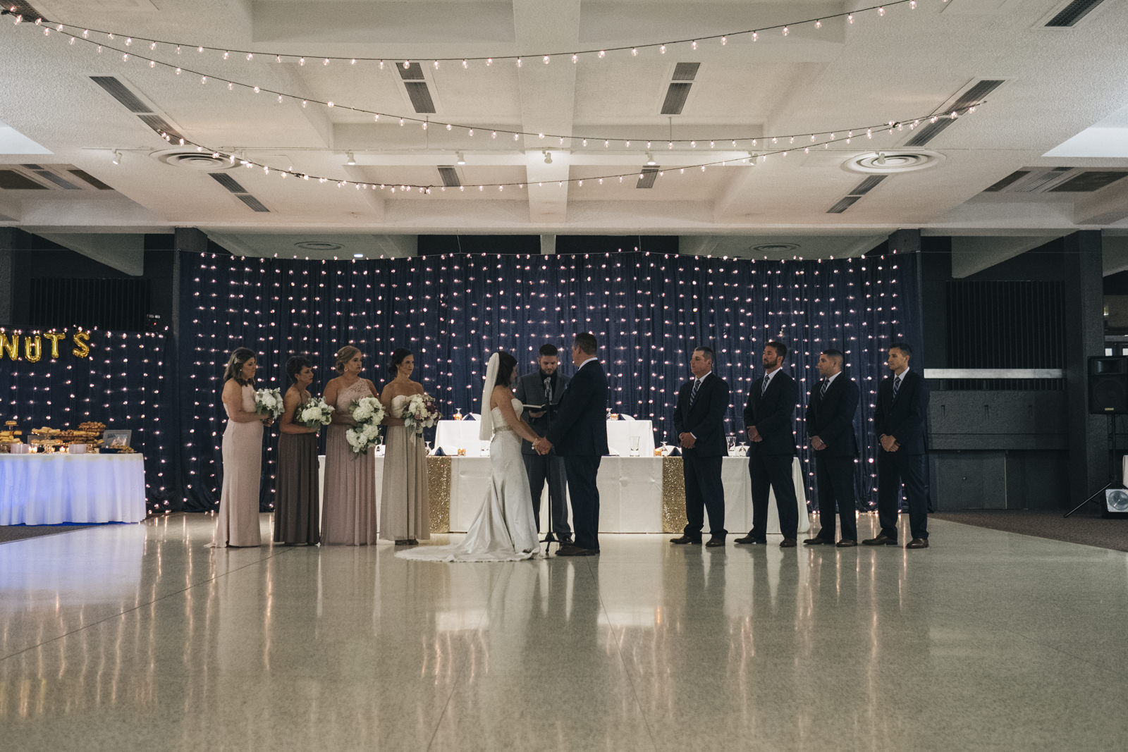 Picture of the wedding ceremony in the Stranahan Theatre in Toledo, Ohio.