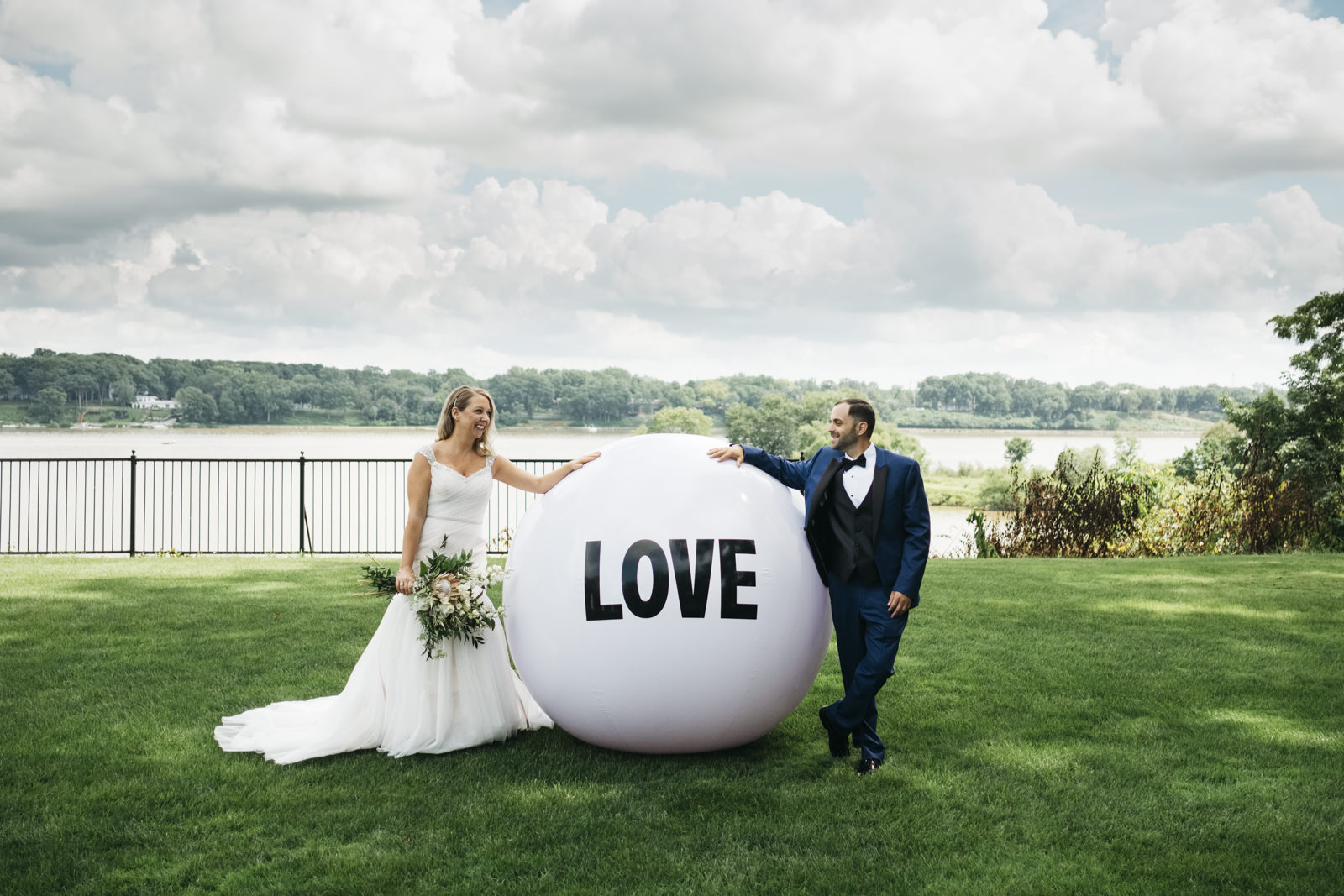 "The ""love ball"" at a Toledo, Ohio wedding."