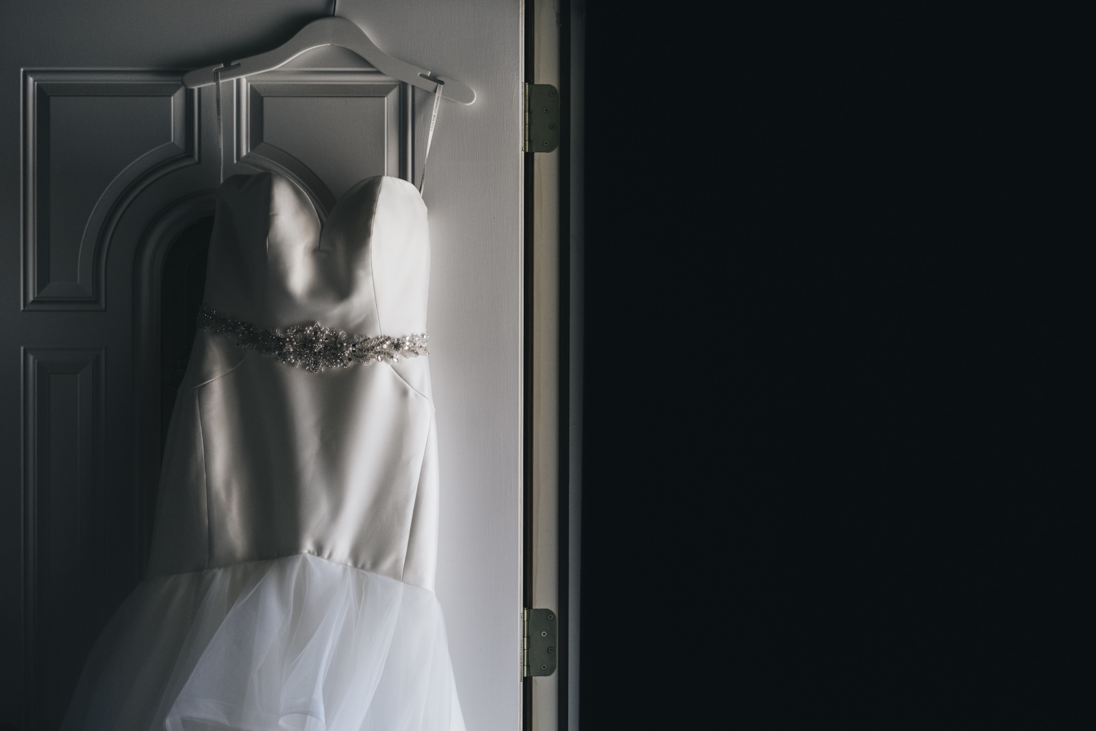 Mermaid wedding gown from Belle Amour Bridal.