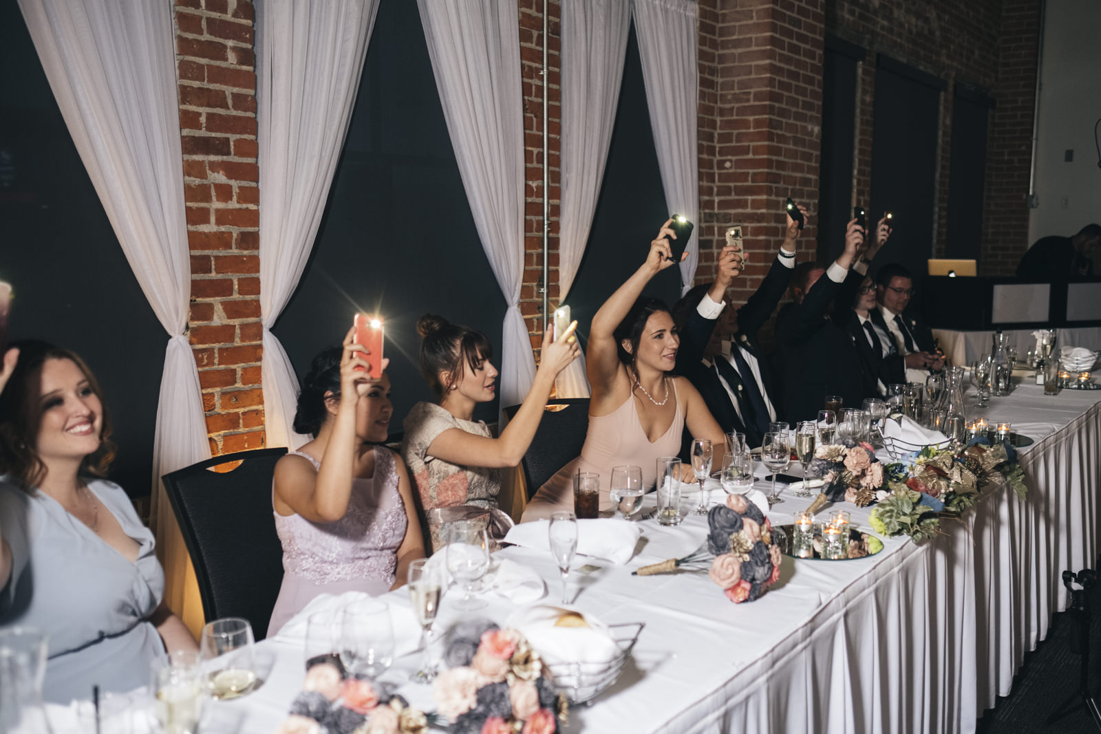 Bridal party at the Armory at Hensville Toledo Wedding.