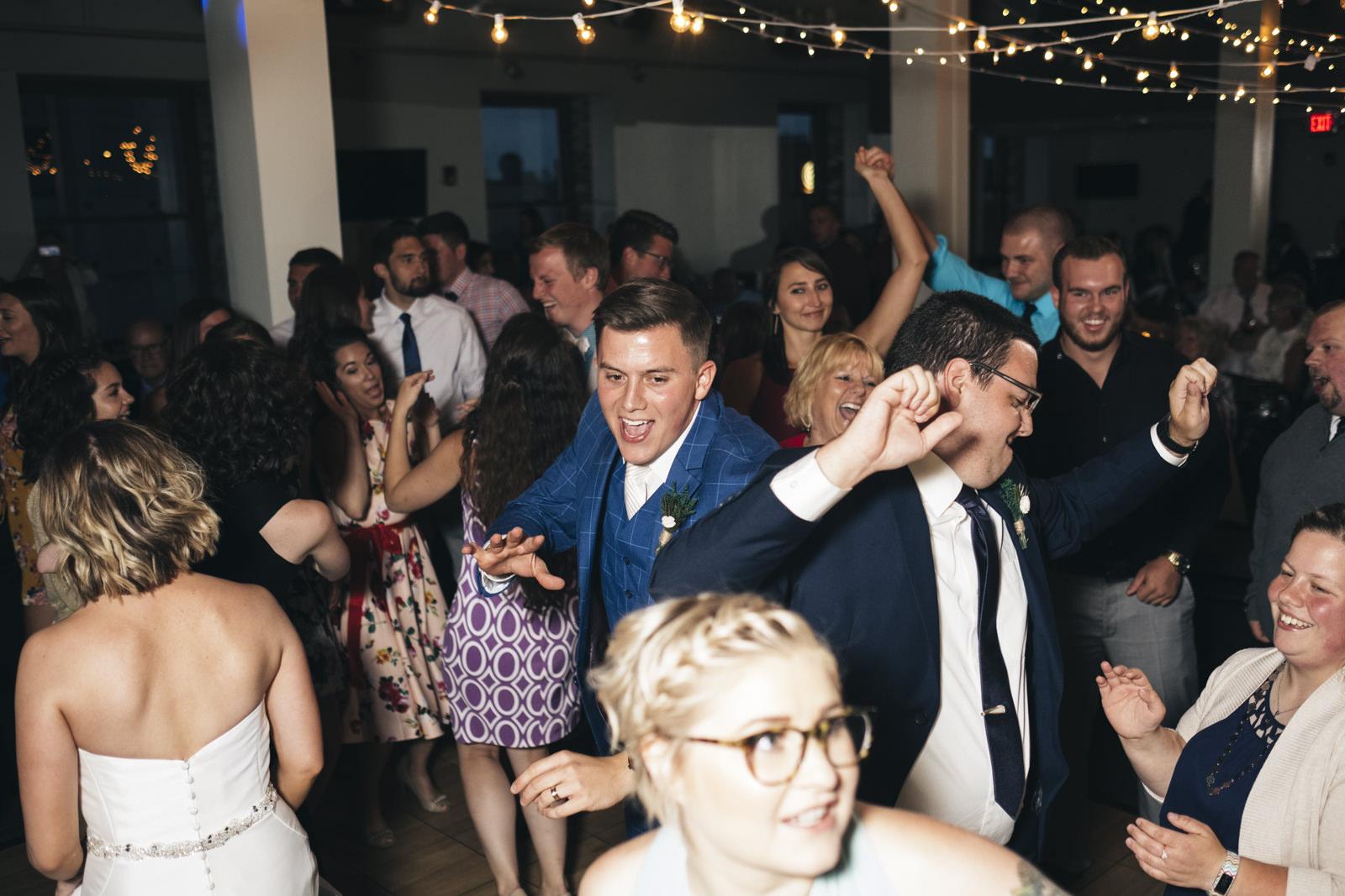 Fun wedding reception at Hensville in Downtown Toledo.