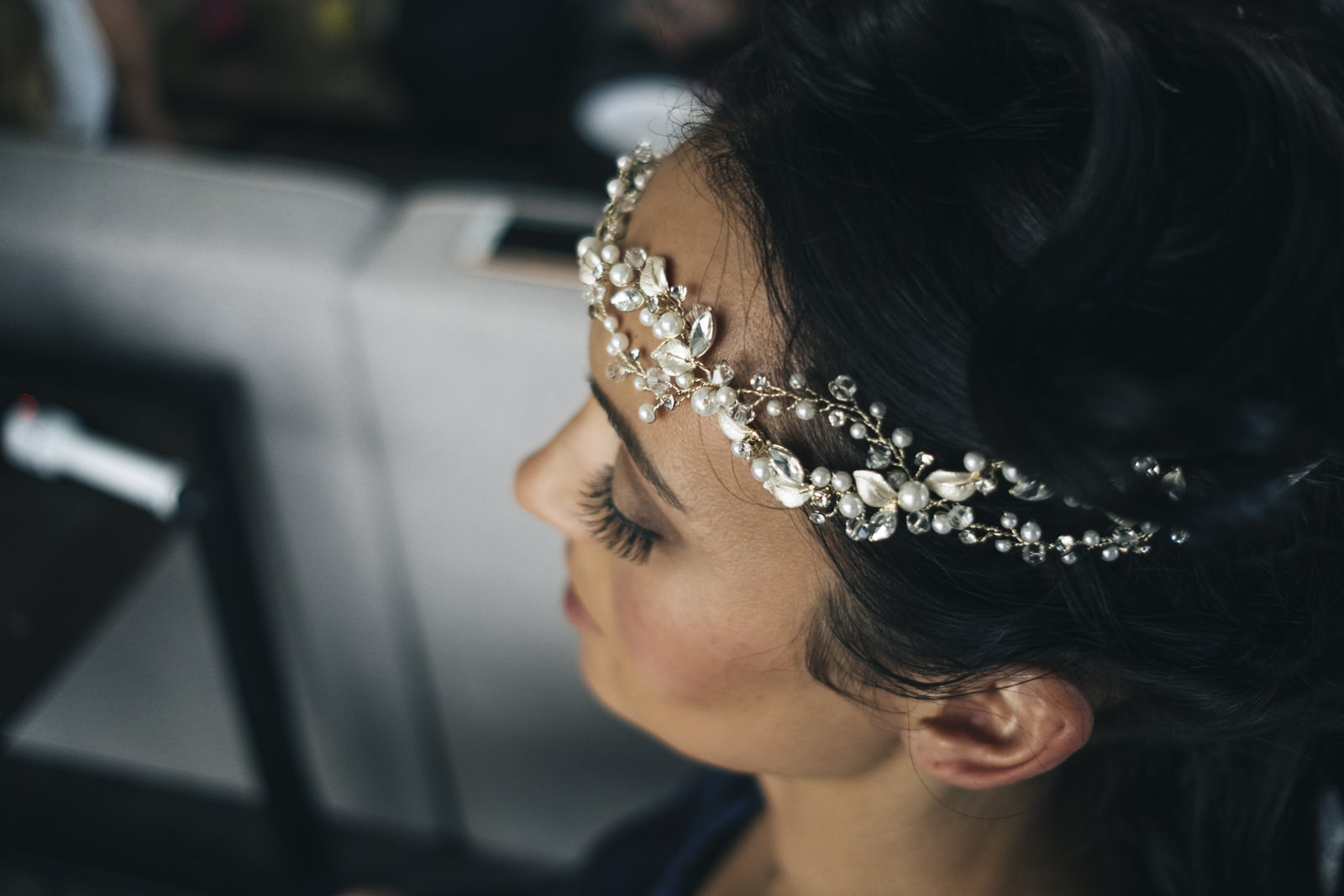 Beautiful bridal crown.