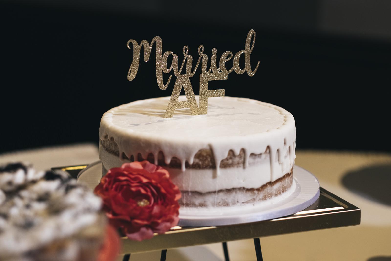 Same-sex wedding cake at The Premier.