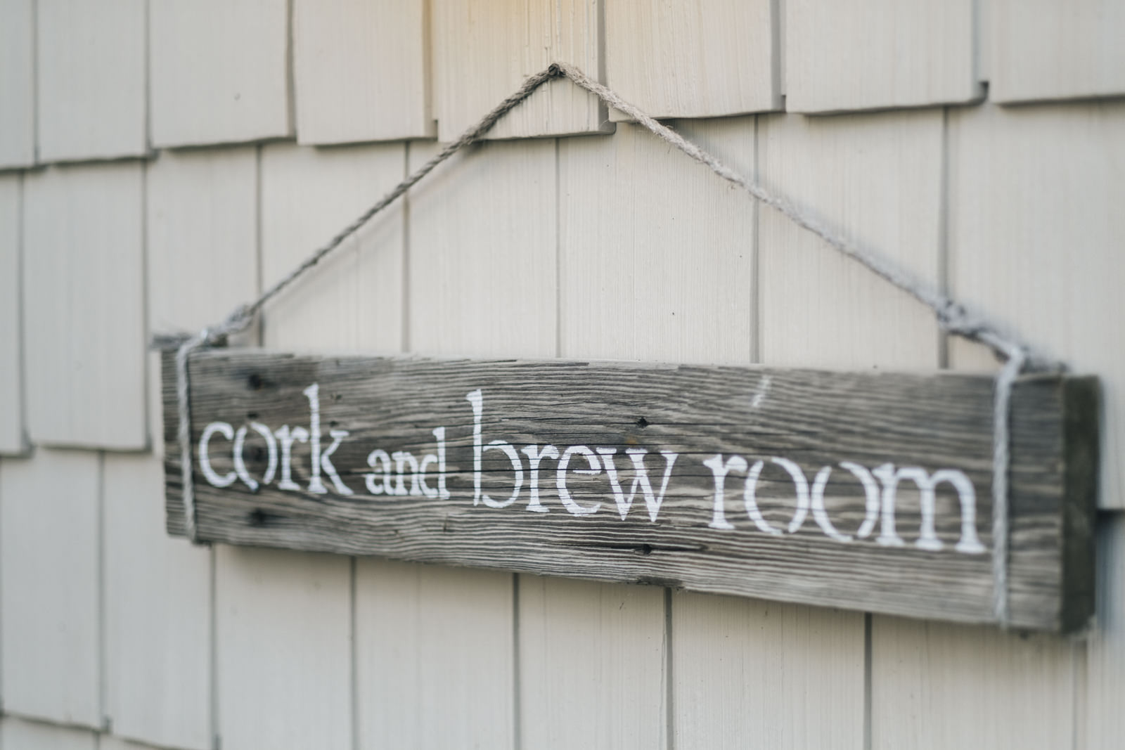 Cork and Brew room nautical wedding sign