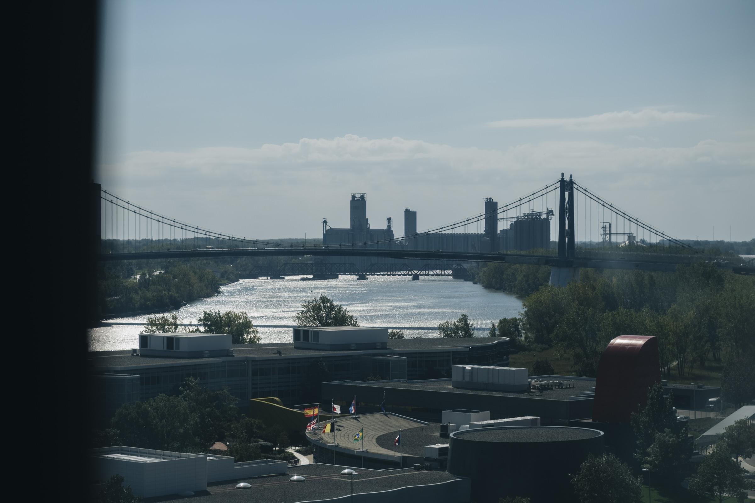 Toledo skyline picture taken from The Park Inn hotel in Ohio