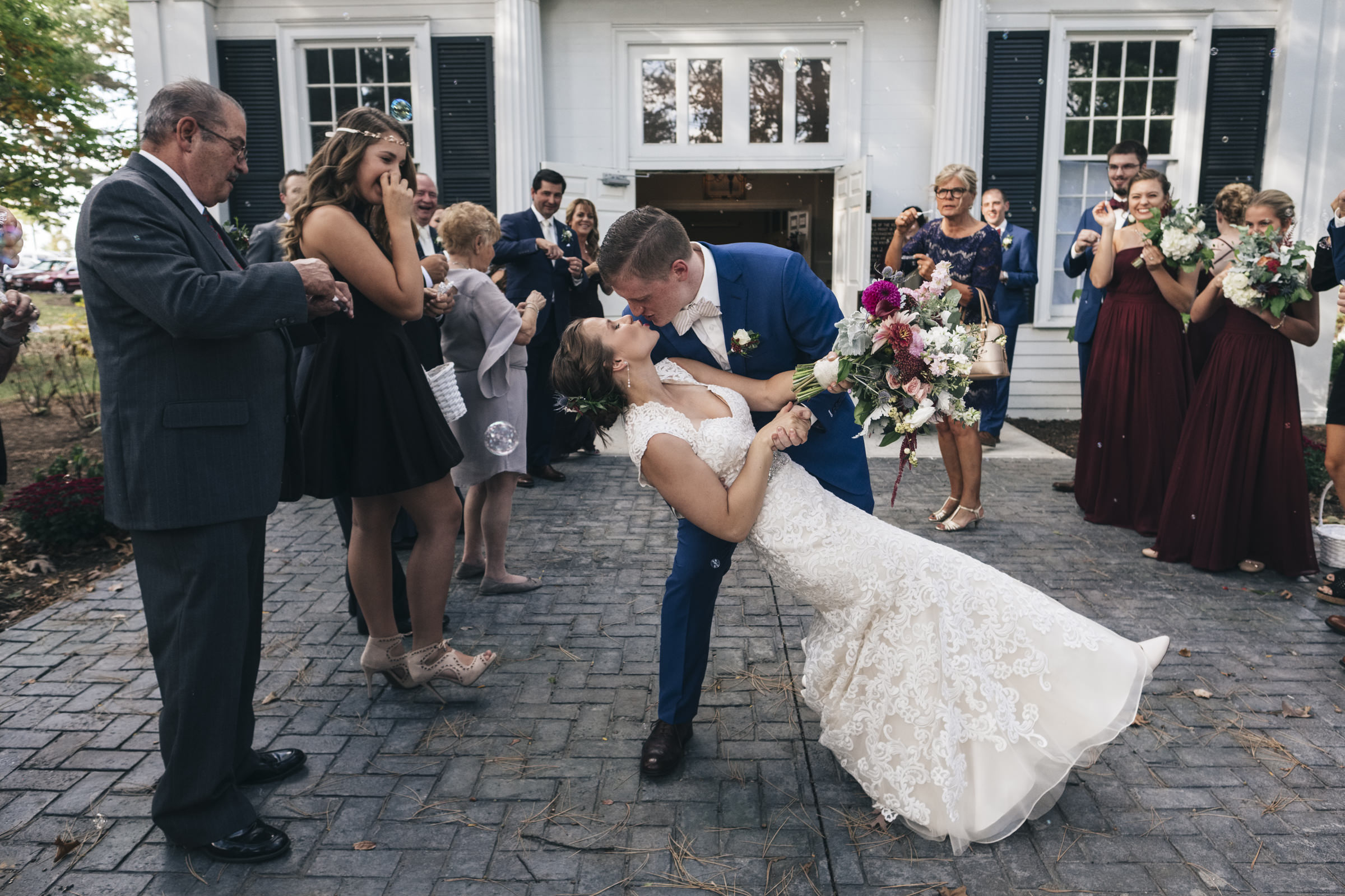 Grand bubble exit from wedding ceremony planned by Lifestyle Wedding Planning