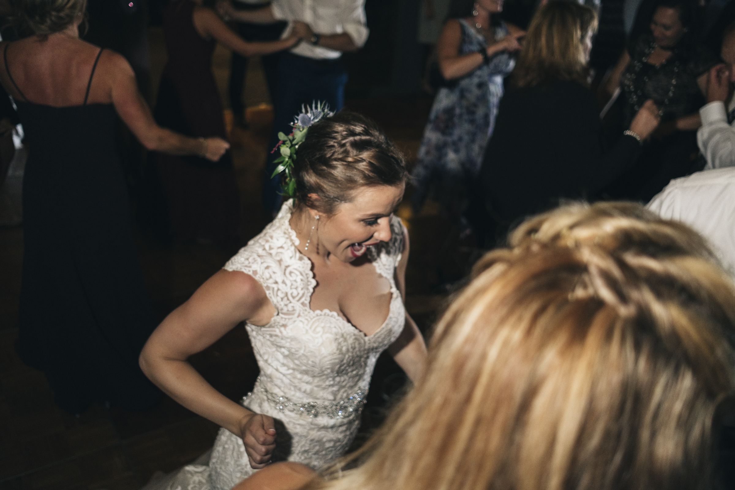 Bride dances at her wedding reception at Belmont Country Club