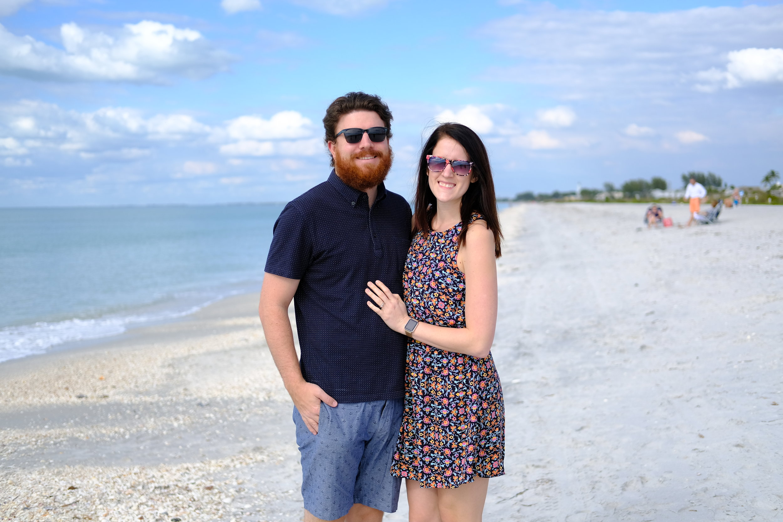 Visit to the beach in Tampa, Florida.
