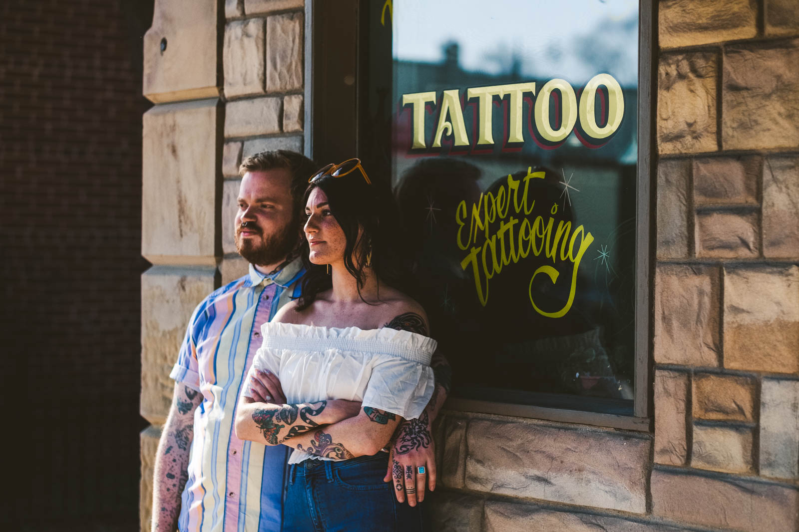 Engagement session in Depot Town