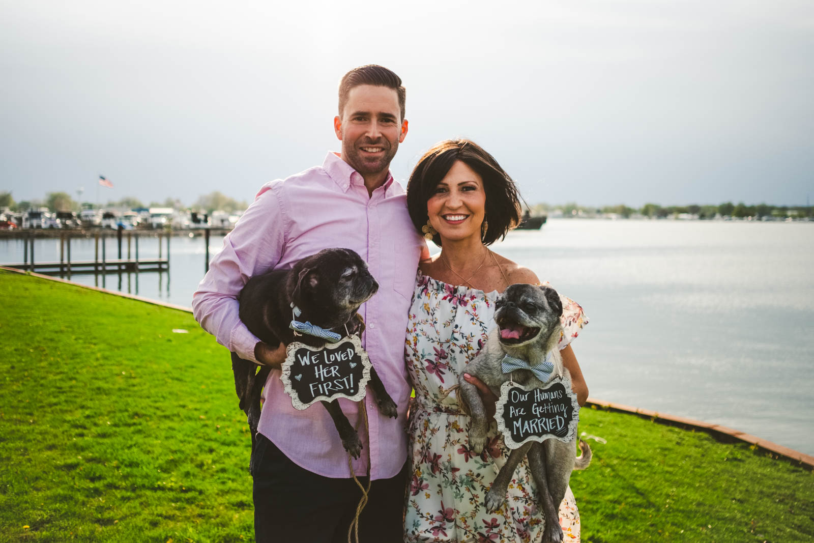 Engagement Session in Marblehead Ohio with Pet Photography