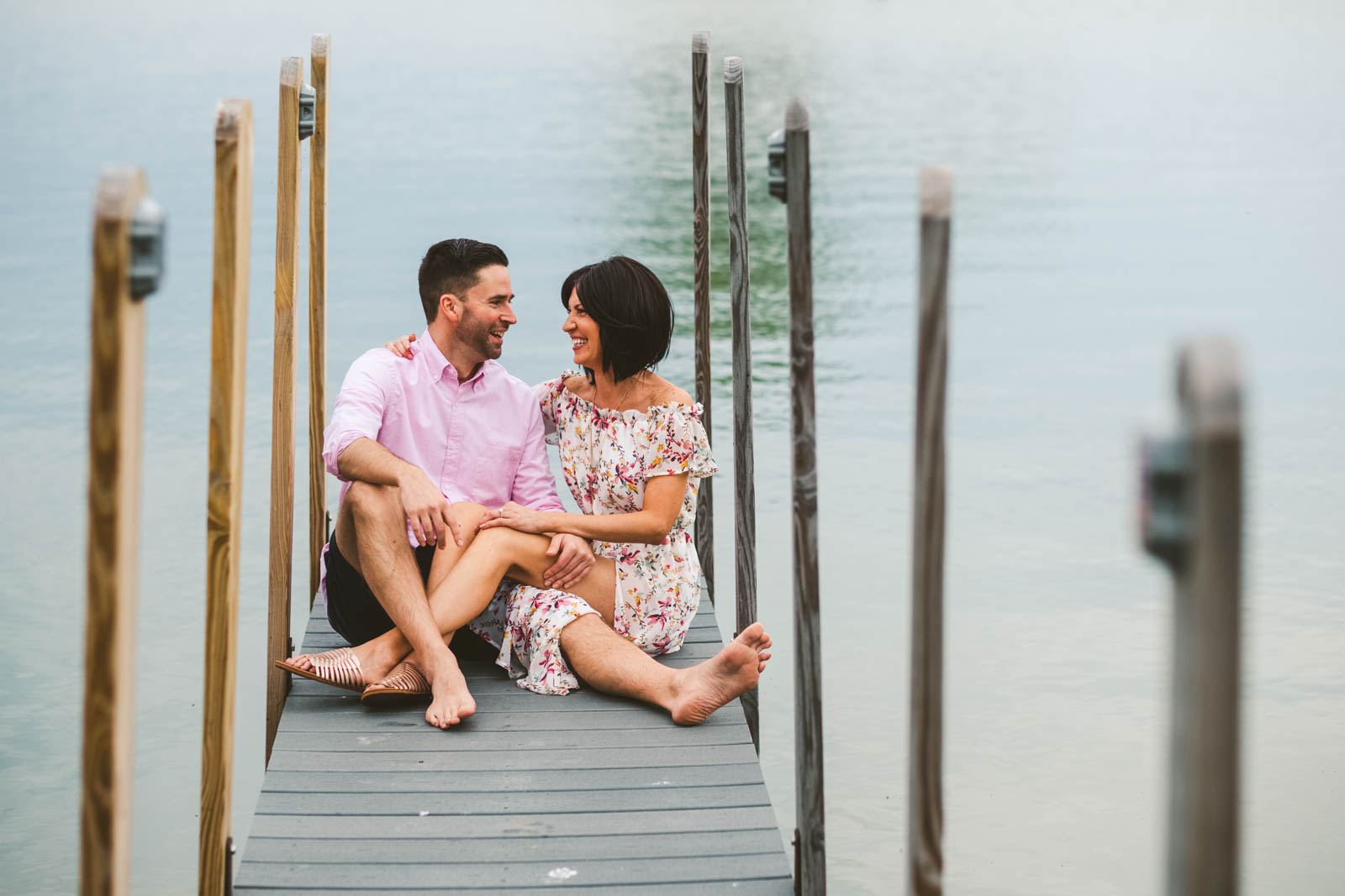 Engagement Session on Water in Catawba Island Ohio Photographers