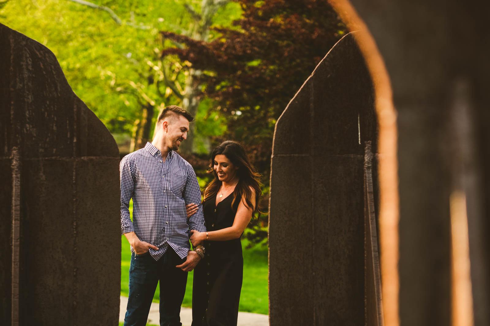 Toledo Wedding Photographers Capture Session at Toledo Botanical Gardens
