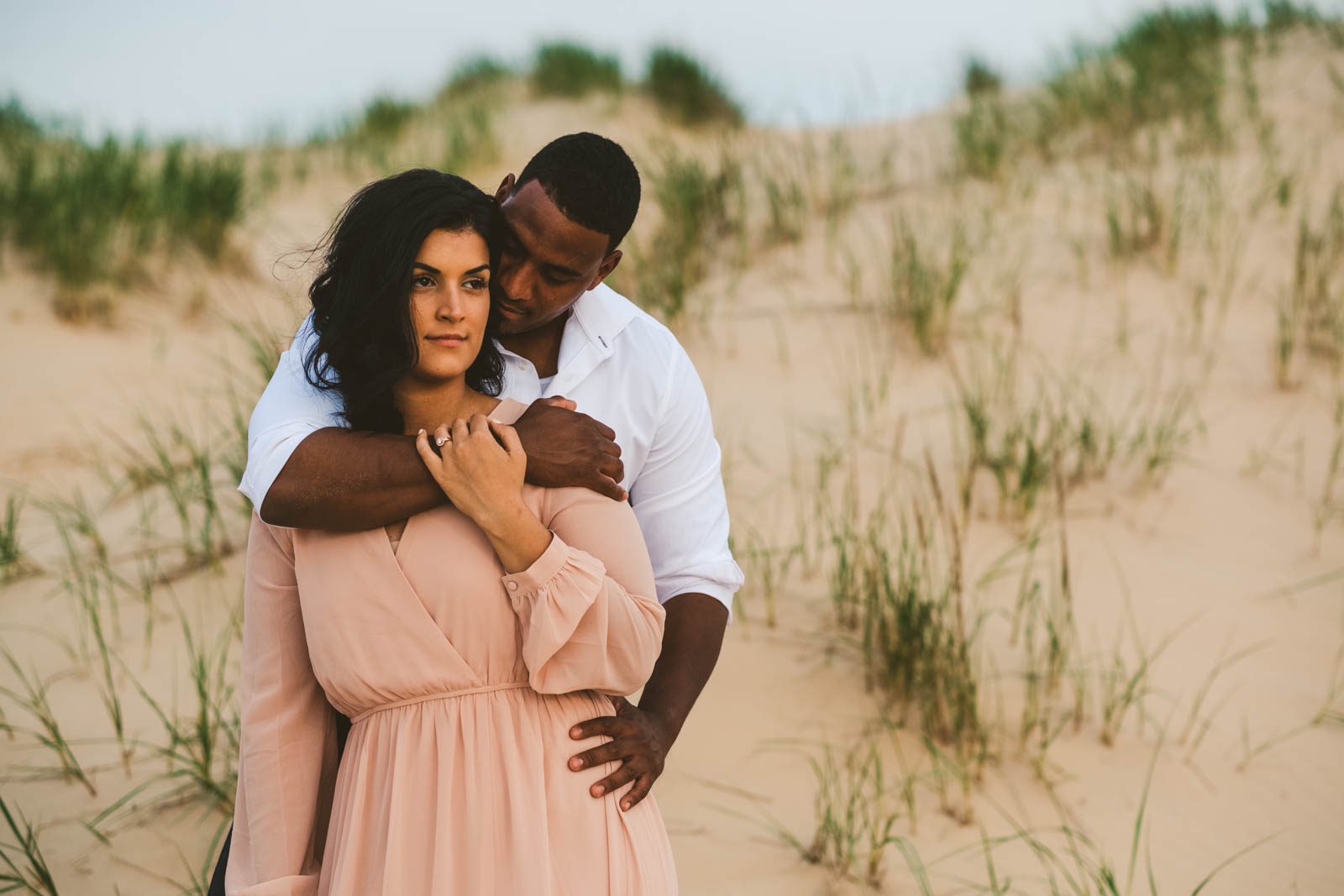 Silver Lake Sand Dunes Engagement Session With Toledo Wedding Photographers