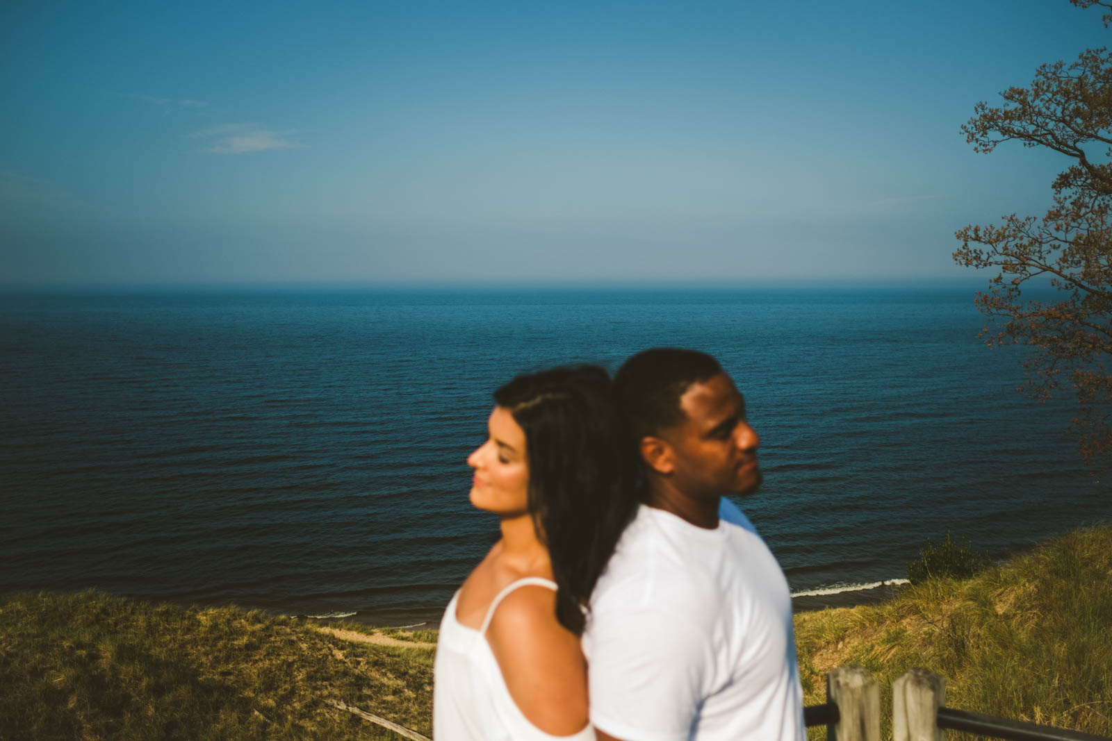 Engagement Session on the Silver Lake Shores in Michigan with Toledo Wedding Photographers