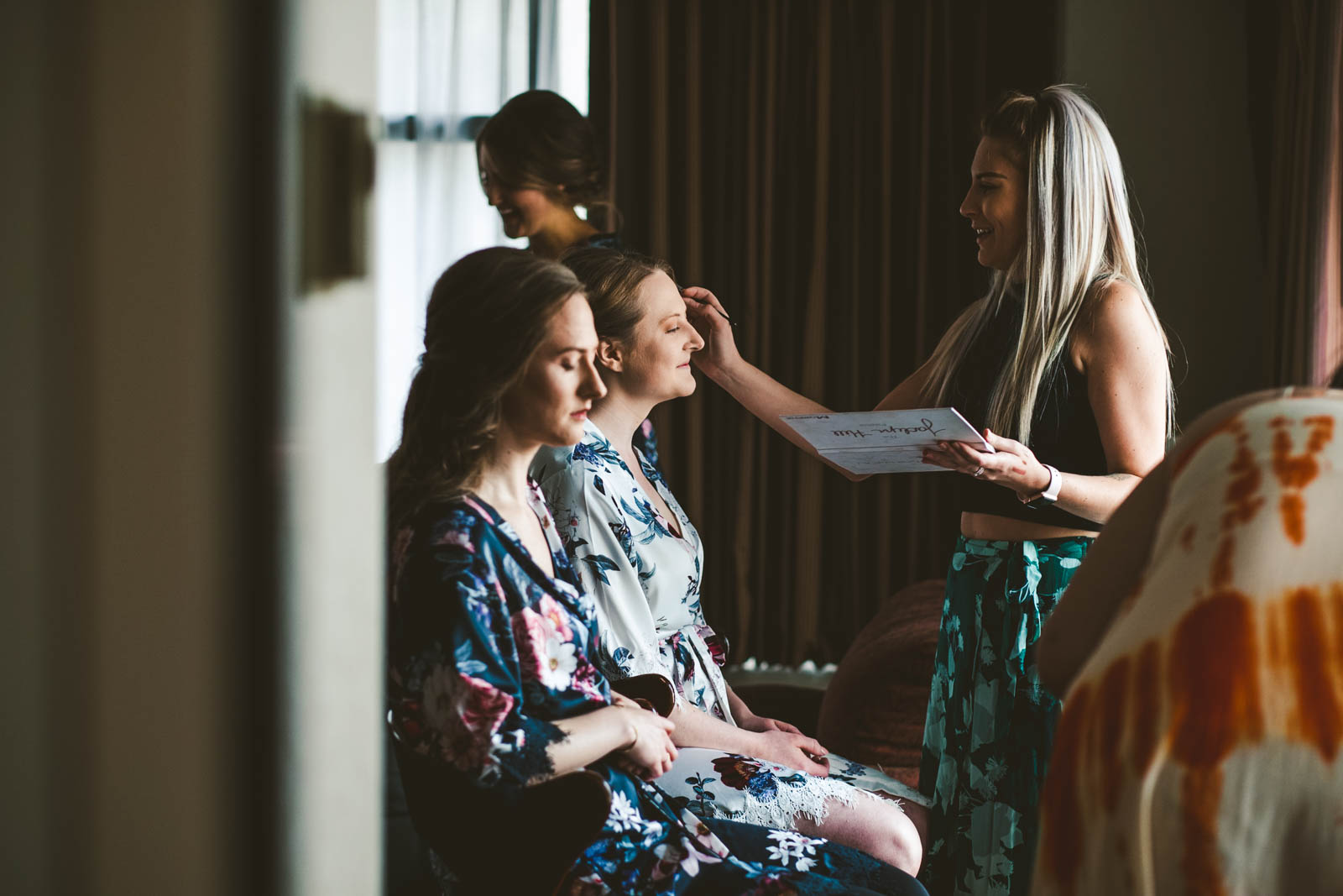 Bride Gets Ready for Wedding Day at Historic Church of Saint Patrick with Toledo Wedding Photographers