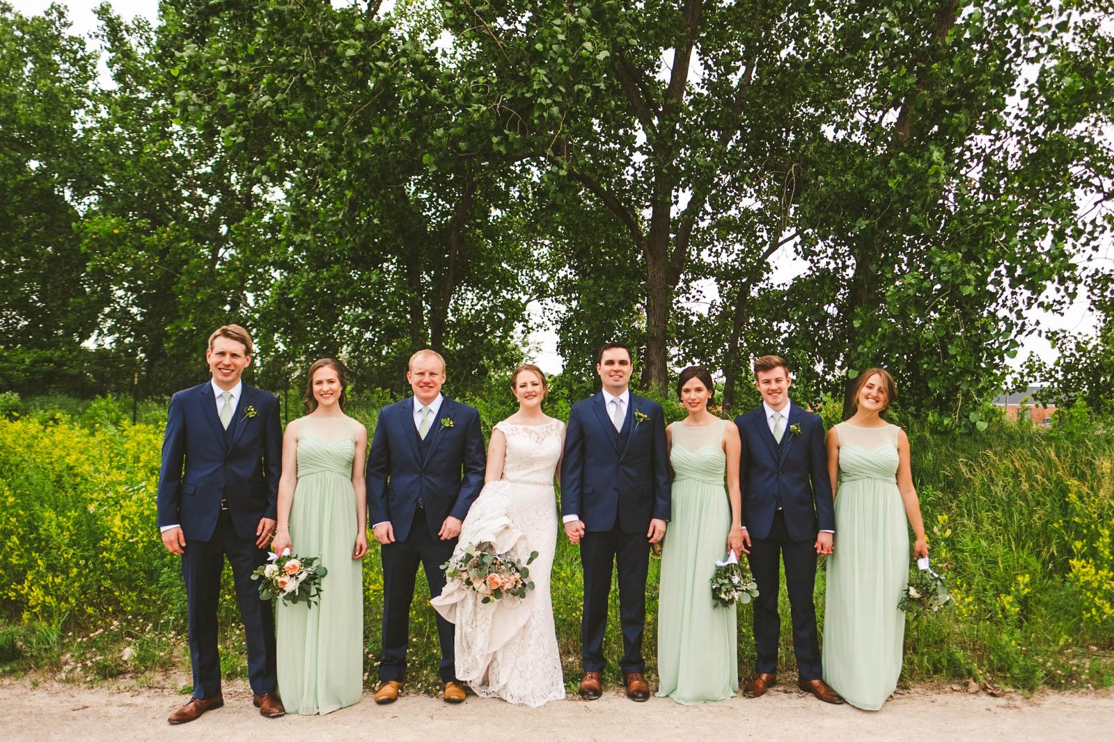 Toledo Wedding Photographers Capture Bridal Party for Creative Pictures in Toledo Ohio