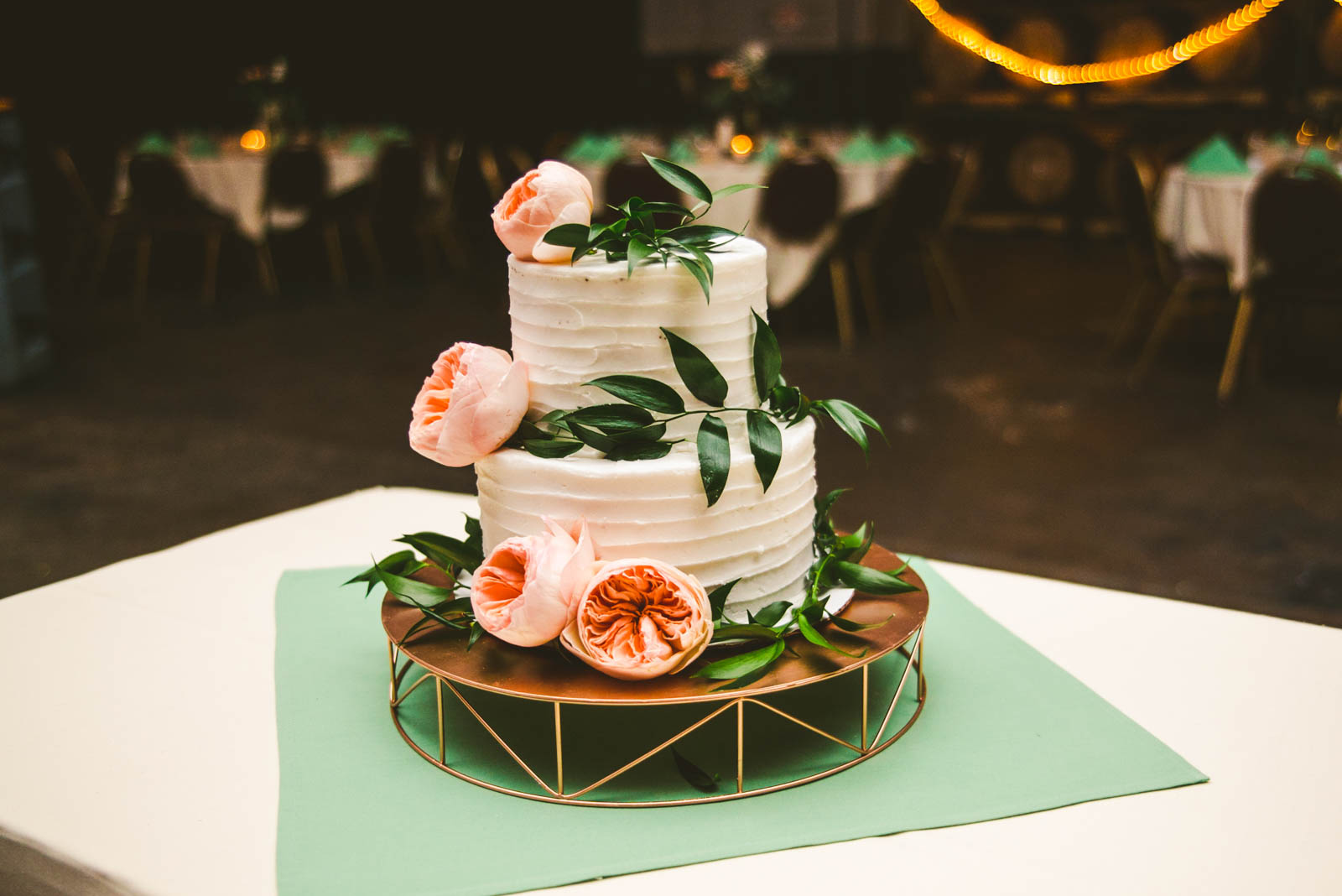 Wedding Cake at Maumee Bay Brewing Company in Toledo Ohio at Reception