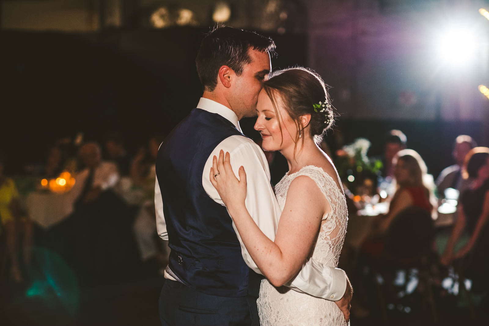 Toledo Couple Dances at Wedding Reception at the Maumee Bay Brewing Company in Toledo Ohio