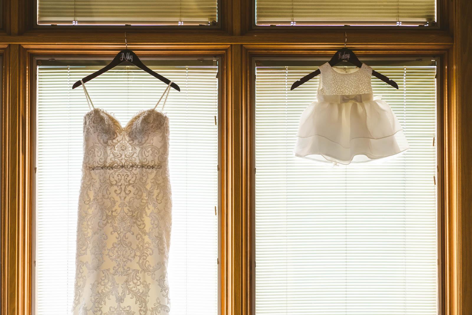 Wedding Dress and Flower Girl's Dress at Stone Ridge Golf Club in Bowling Green Ohio