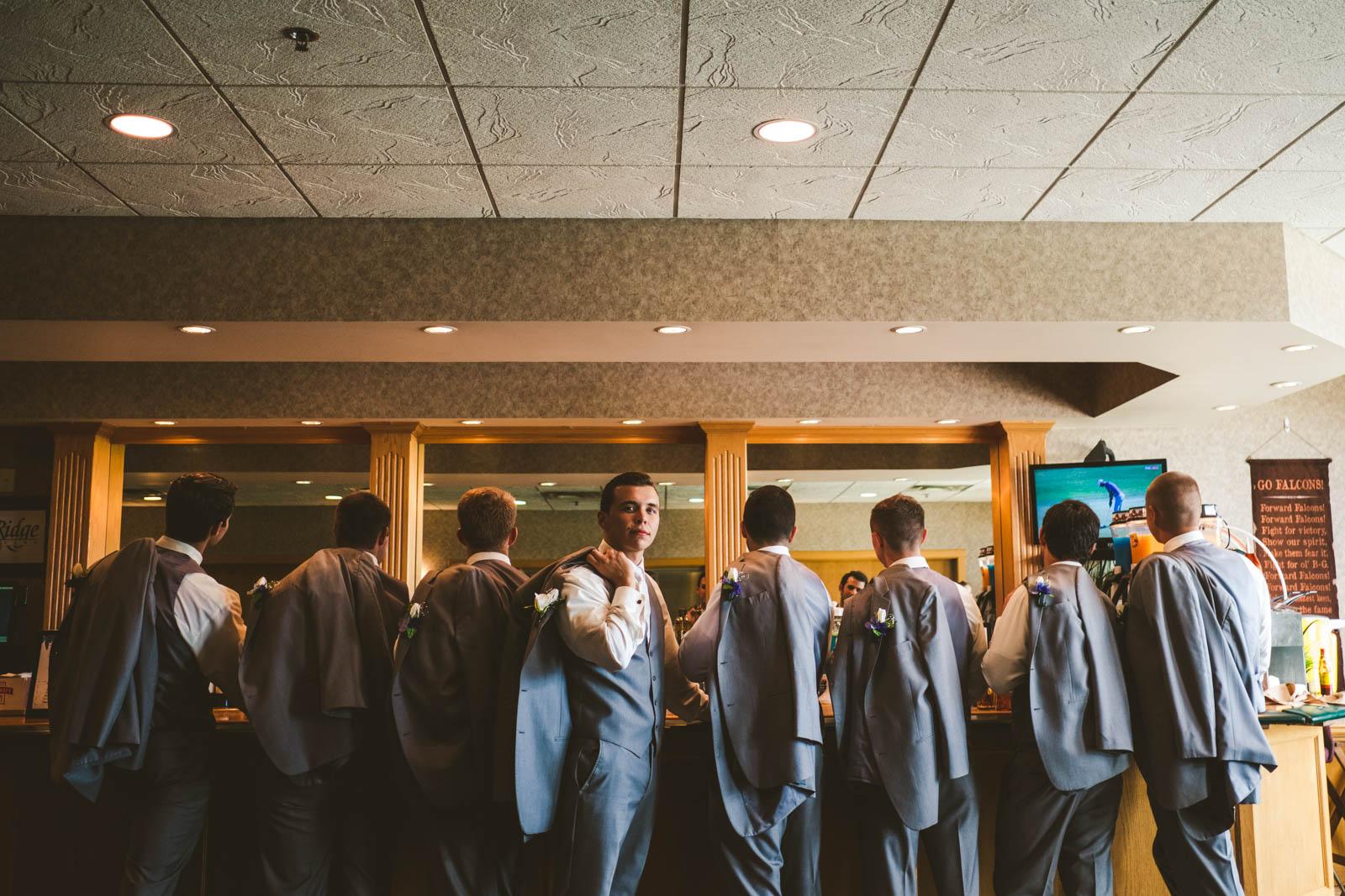 Groomsmen on Wedding Day at Stone Ridge Golf Club with Toledo Wedding Photographers