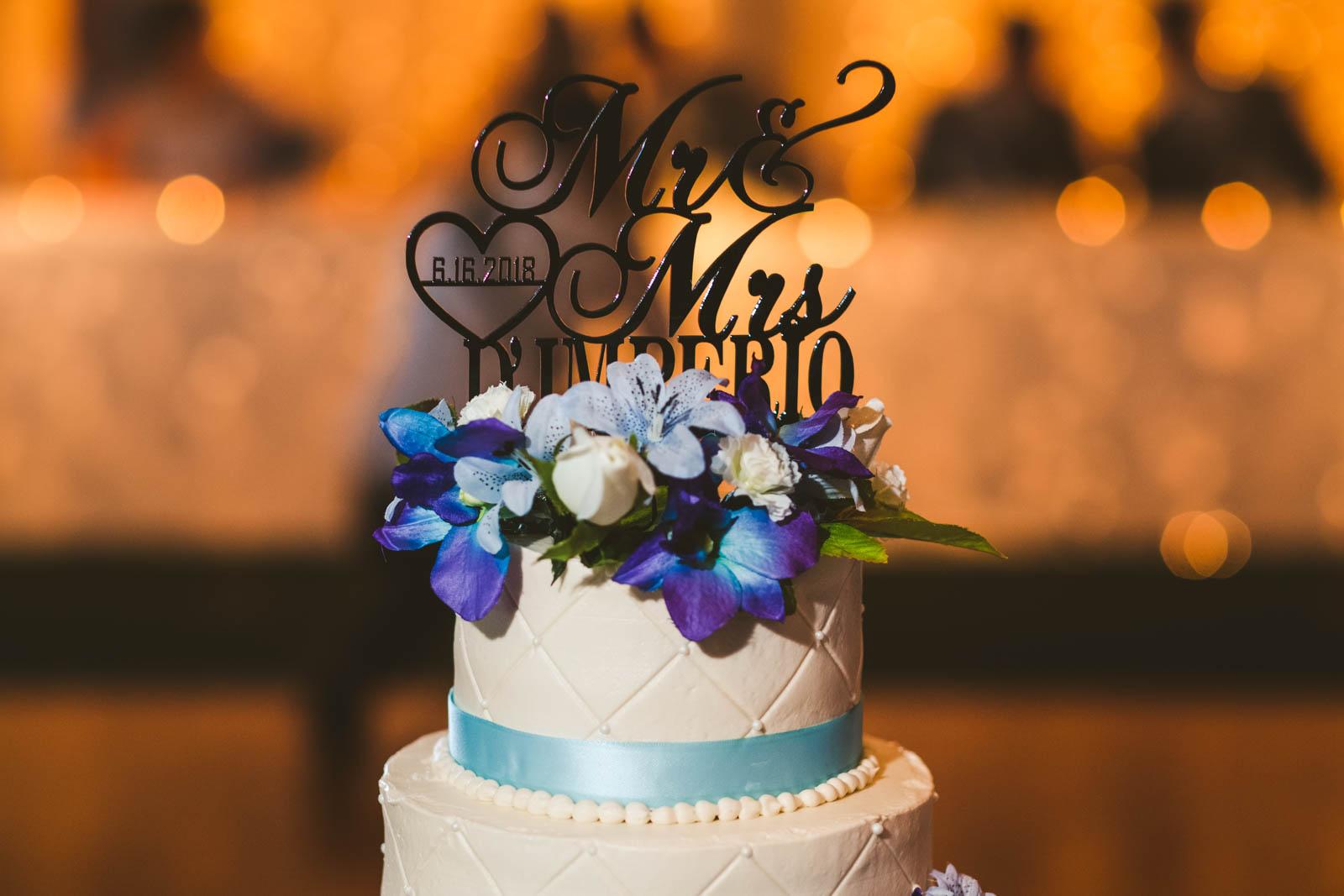Wedding Cake at Stone Ridge Golf Club in Bowling Green Ohio for Wedding Reception
