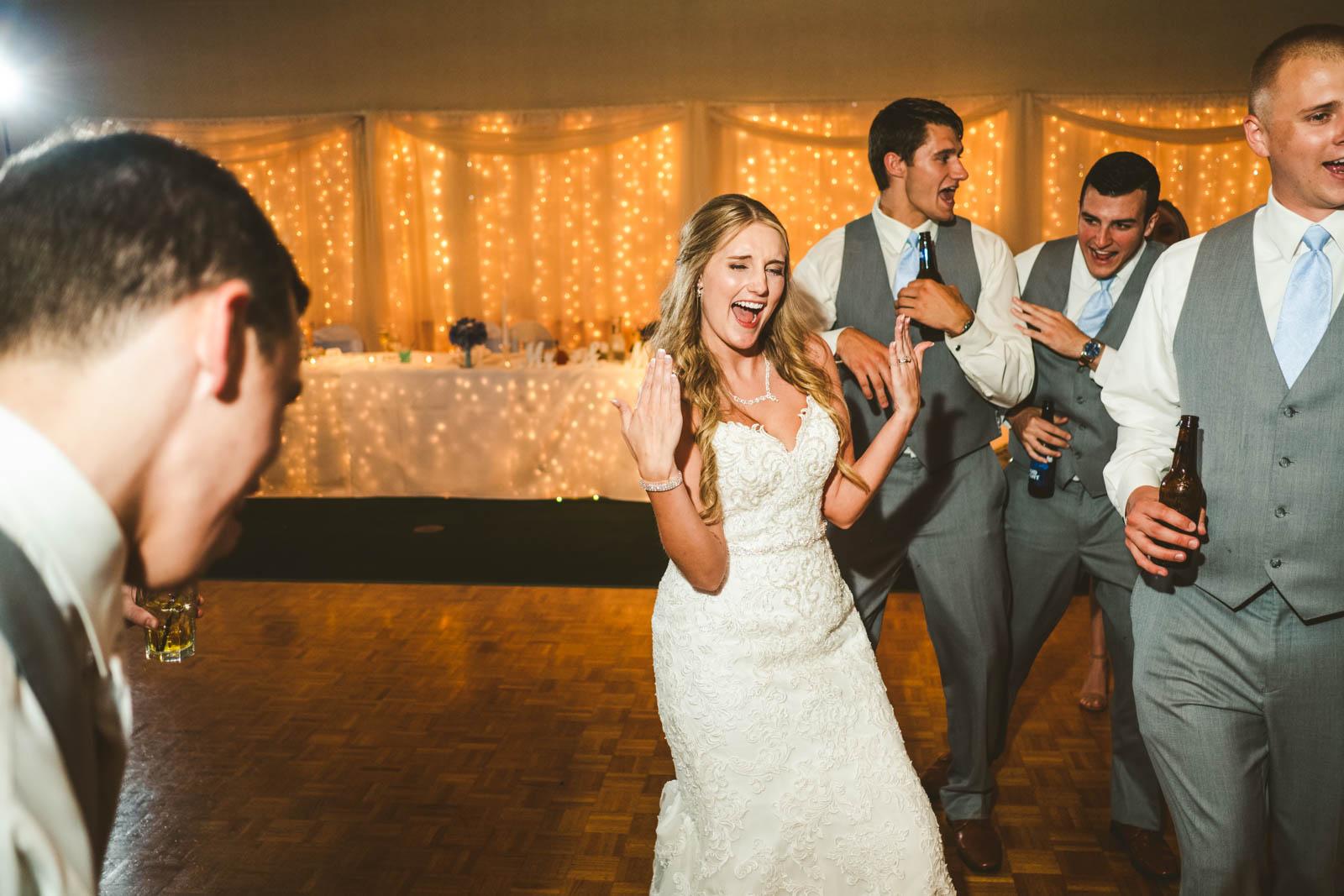 Bride at Wedding Reception Dancing at Stone Ridge Golf Club