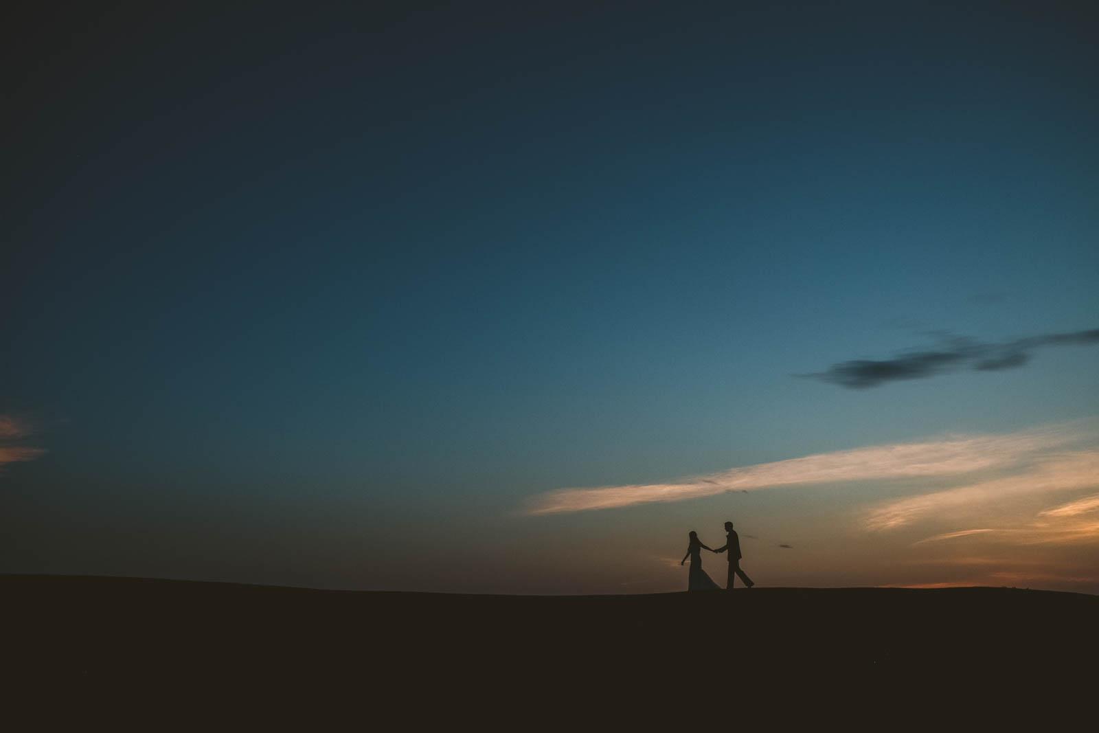 Toledo Wedding Photographers Capture Newlywed Couple at Stone Ridge Golf Club at Sunset