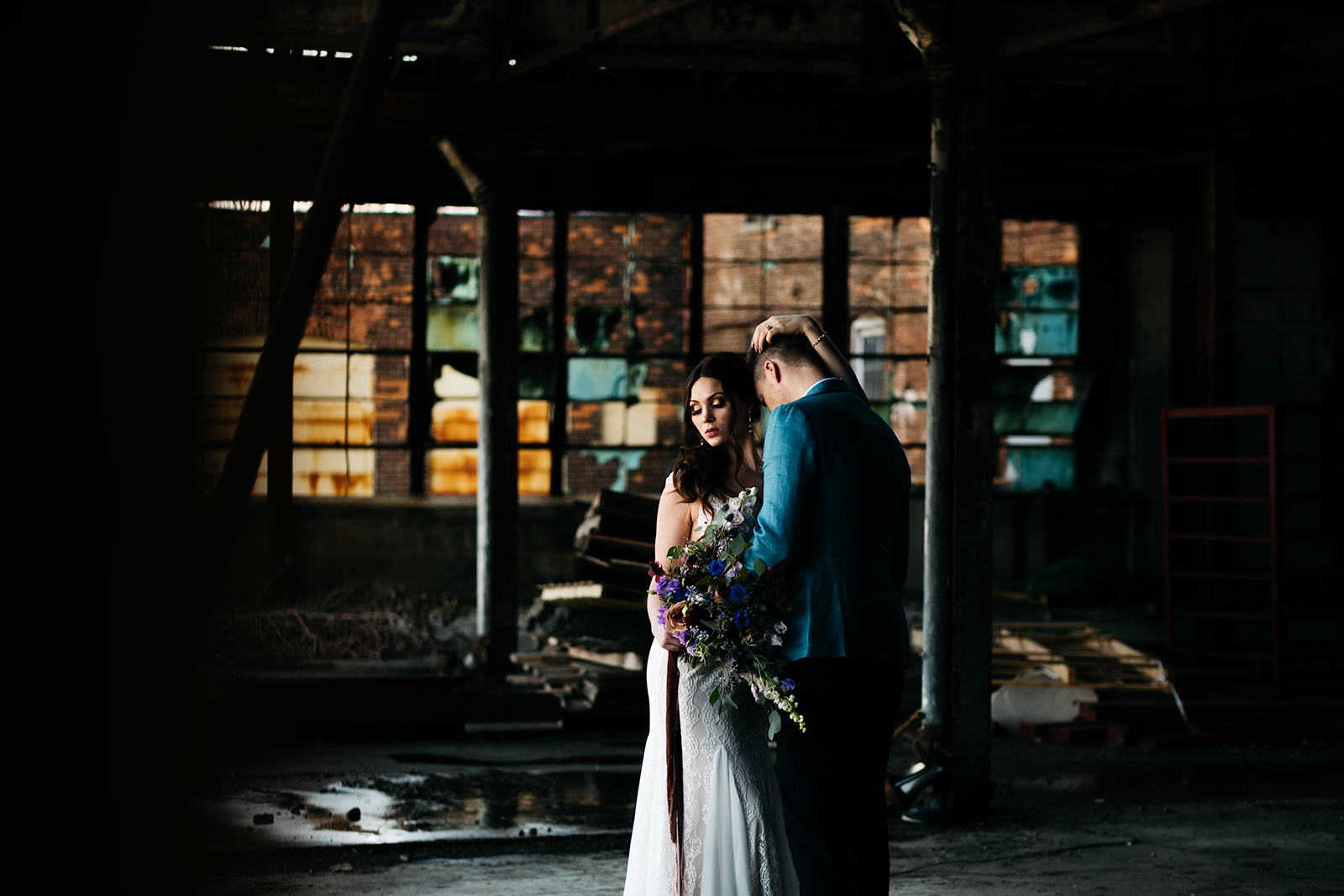 creative wedding photography done in Great Lakes Event Center