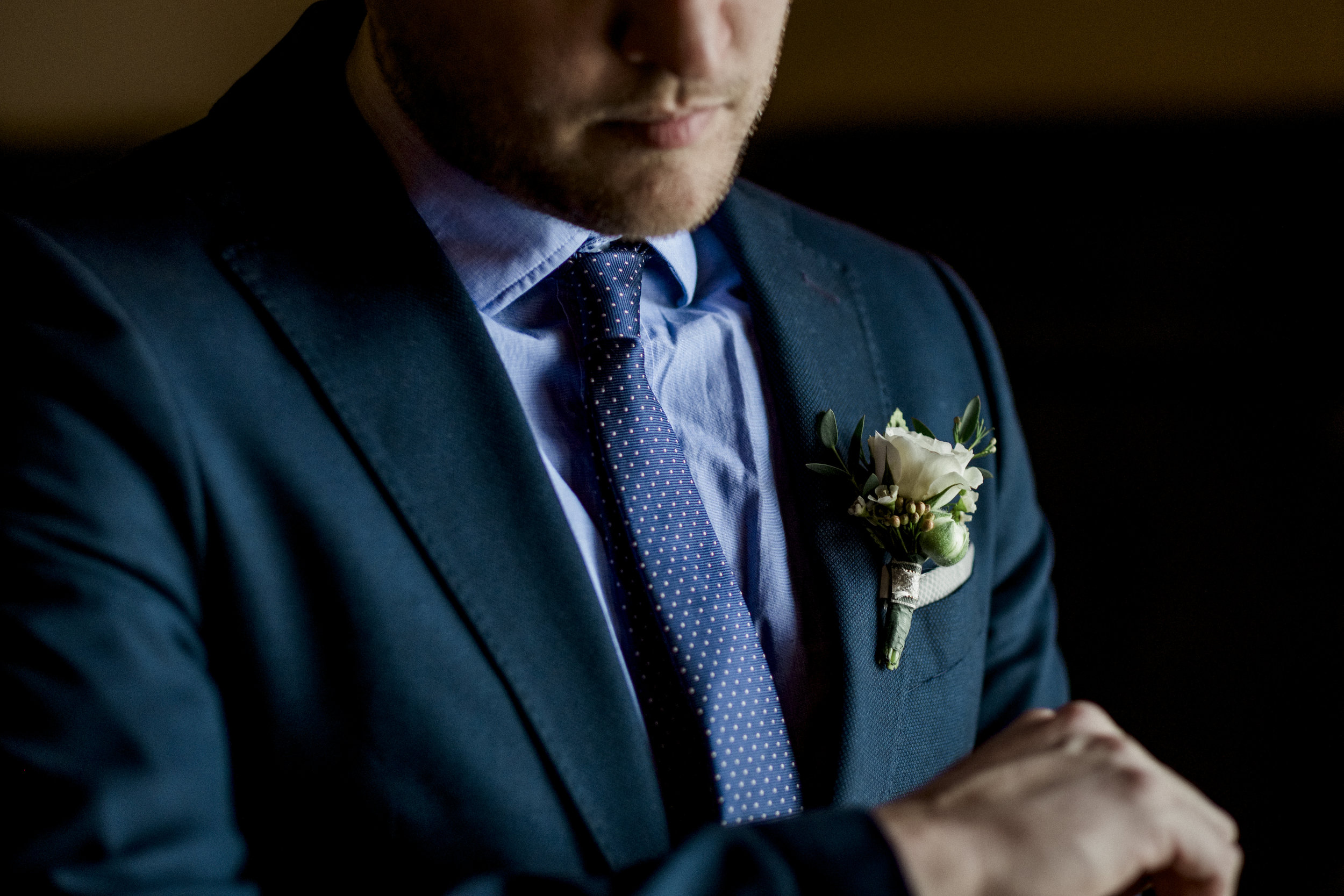 Groom at Styled Shoot for Toledo Wedding Photographers at the Toledo Club