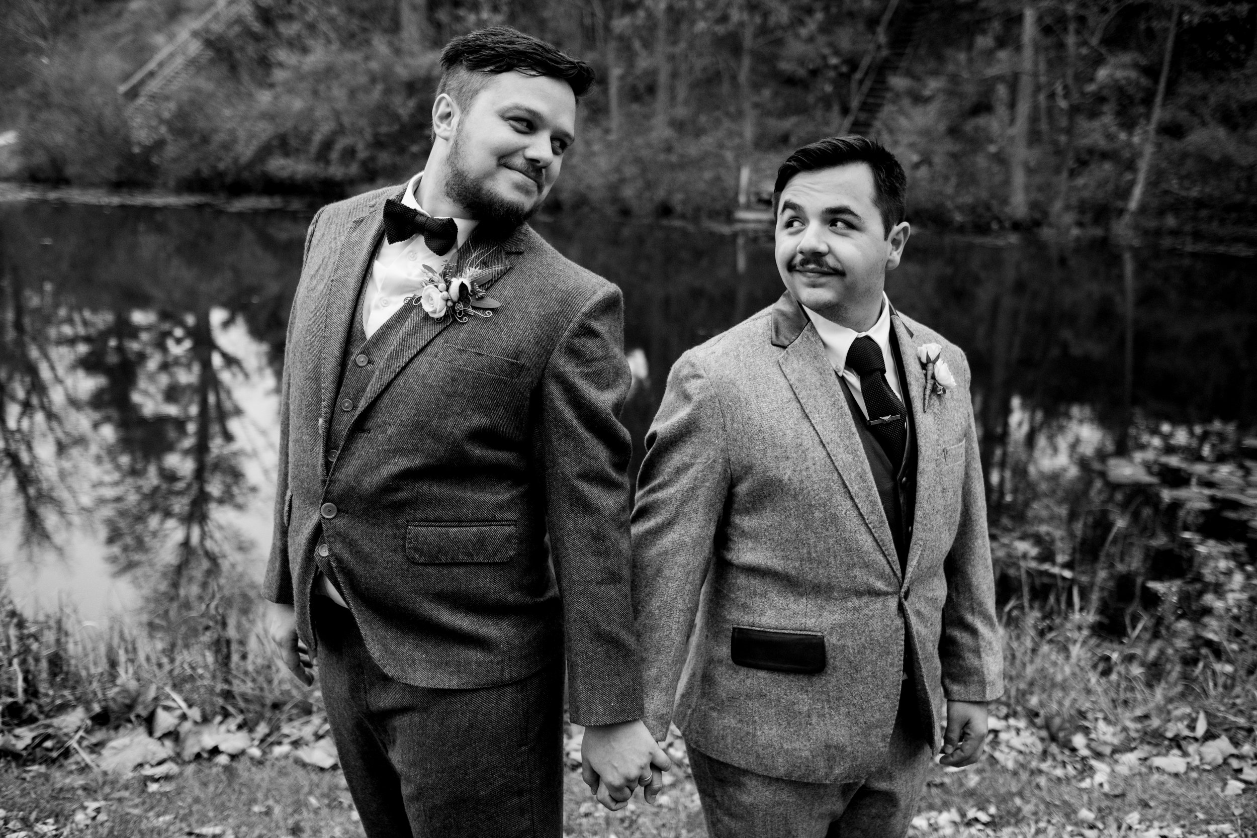 Same Sex Marriage at Wayne Lakes, Michigan with Toledo Wedding Photographers