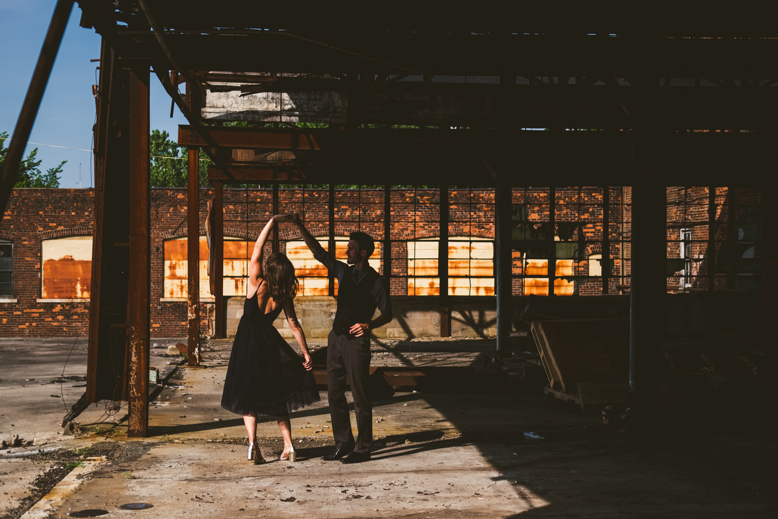Great Lakes Event Center Engagement Session with Toledo Wedding Photographers
