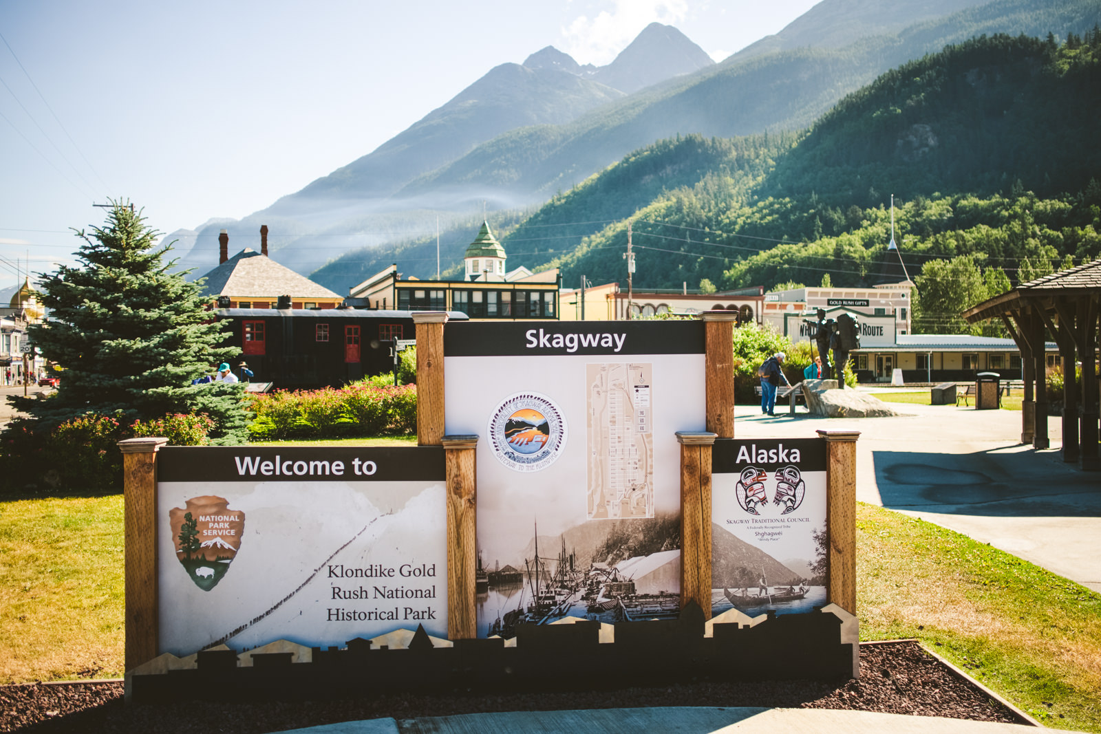 Skagway's klondlike gold rush national historical park in alaska