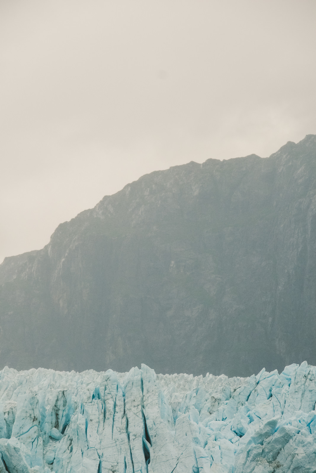 Glacier detail on Alaska Cruise taken by wedding photographer