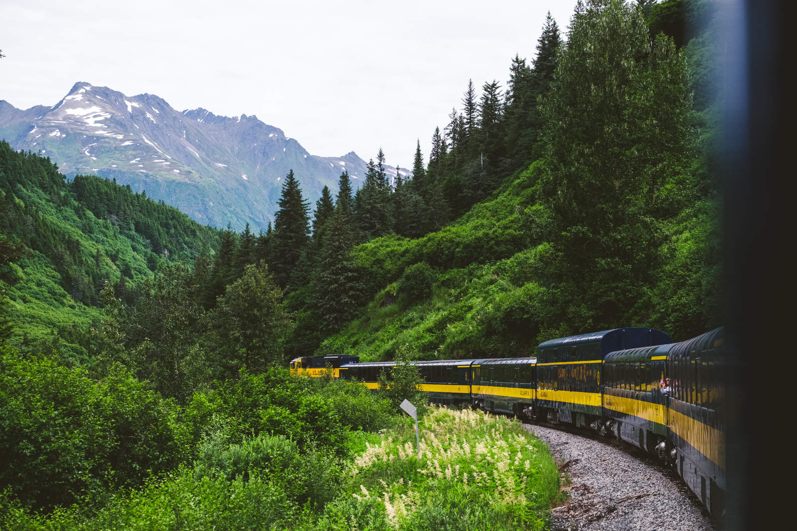 Ohio Wedding Photographers take phots on Alaska Train