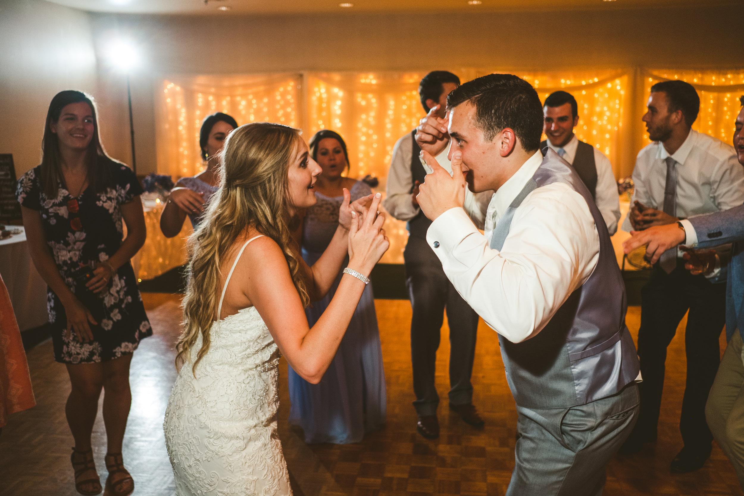 Wedding Photographers from Northwest Ohio at Wedding Reception in Bowling Green Stone Ridge Golf Club