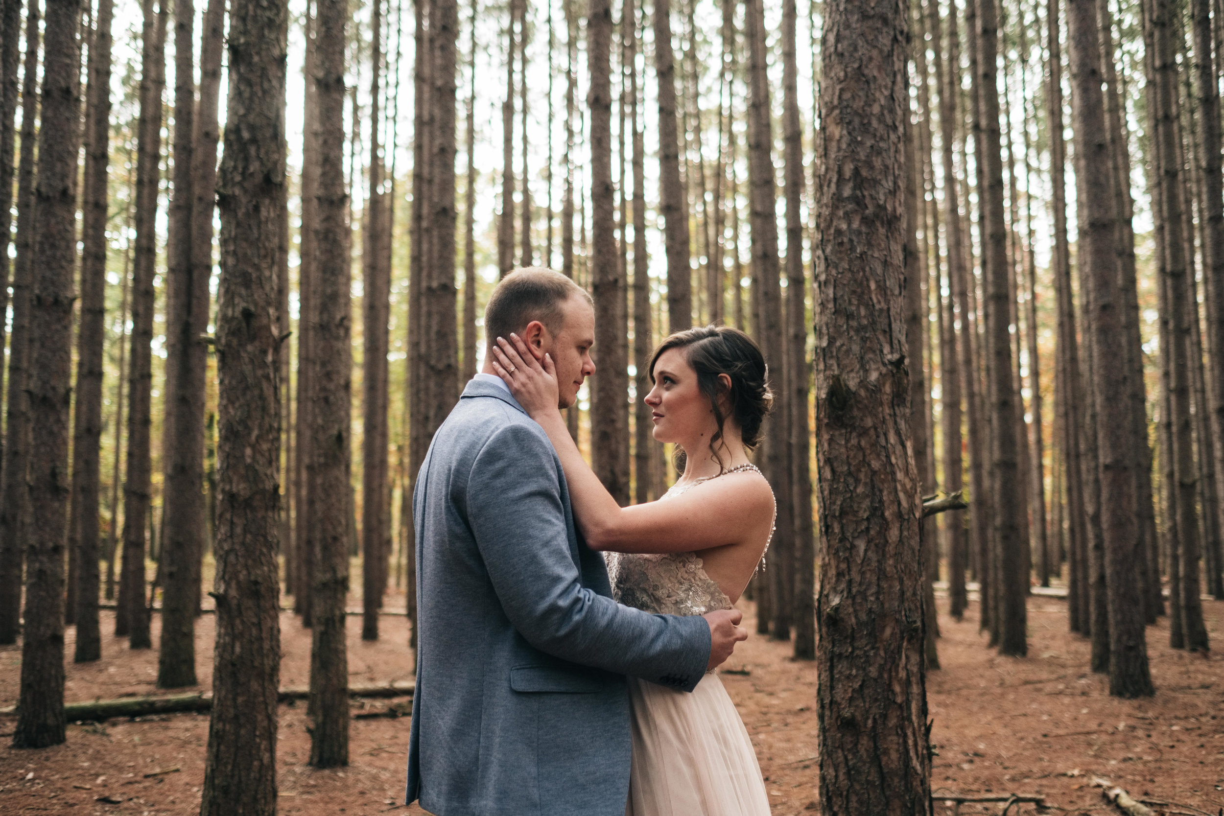 First Look with Bride and Groom from Toledo Ohio with Photographers