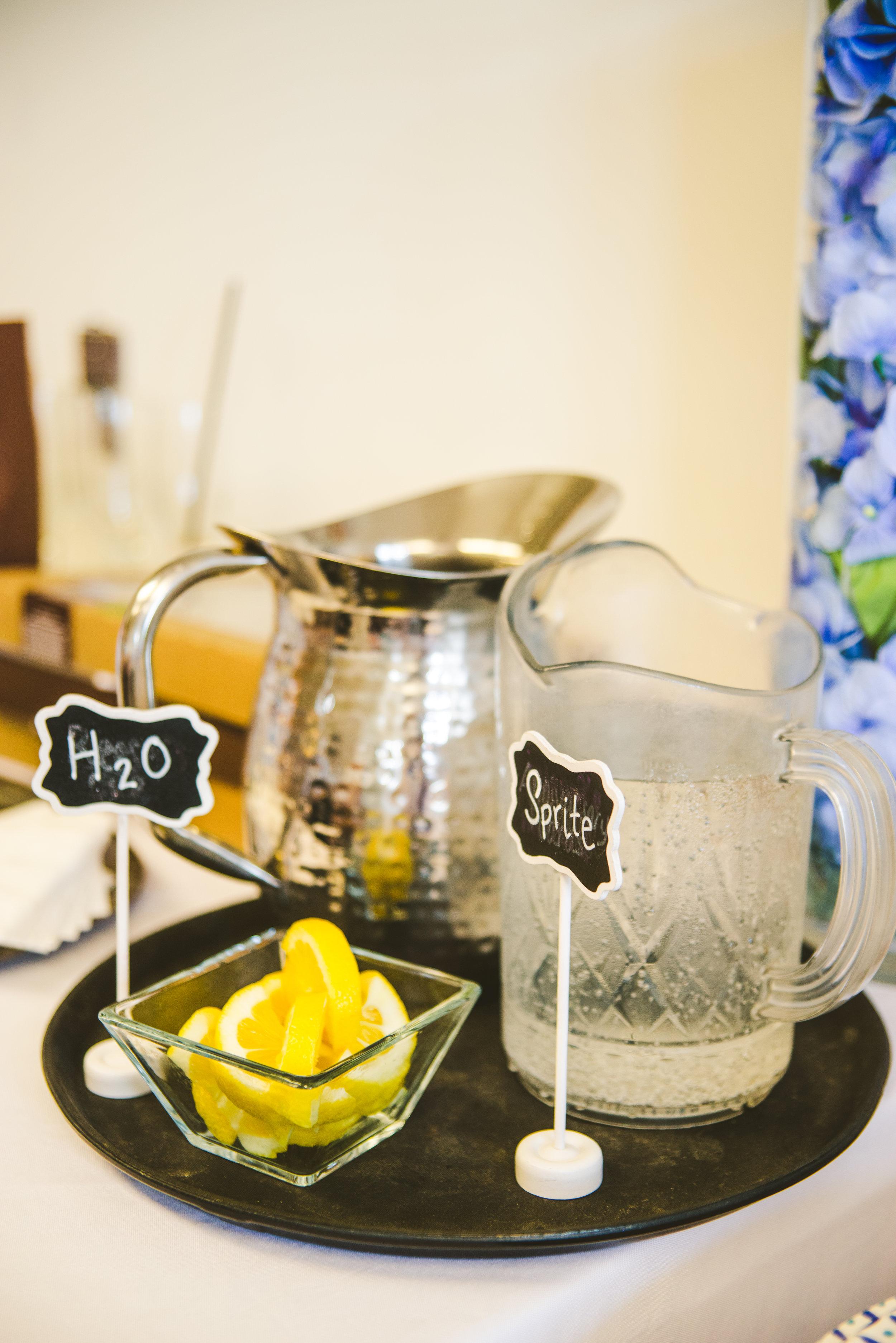 Pre Wedding Snacks and Beverages with Toledo Ohio Wedding Photographers