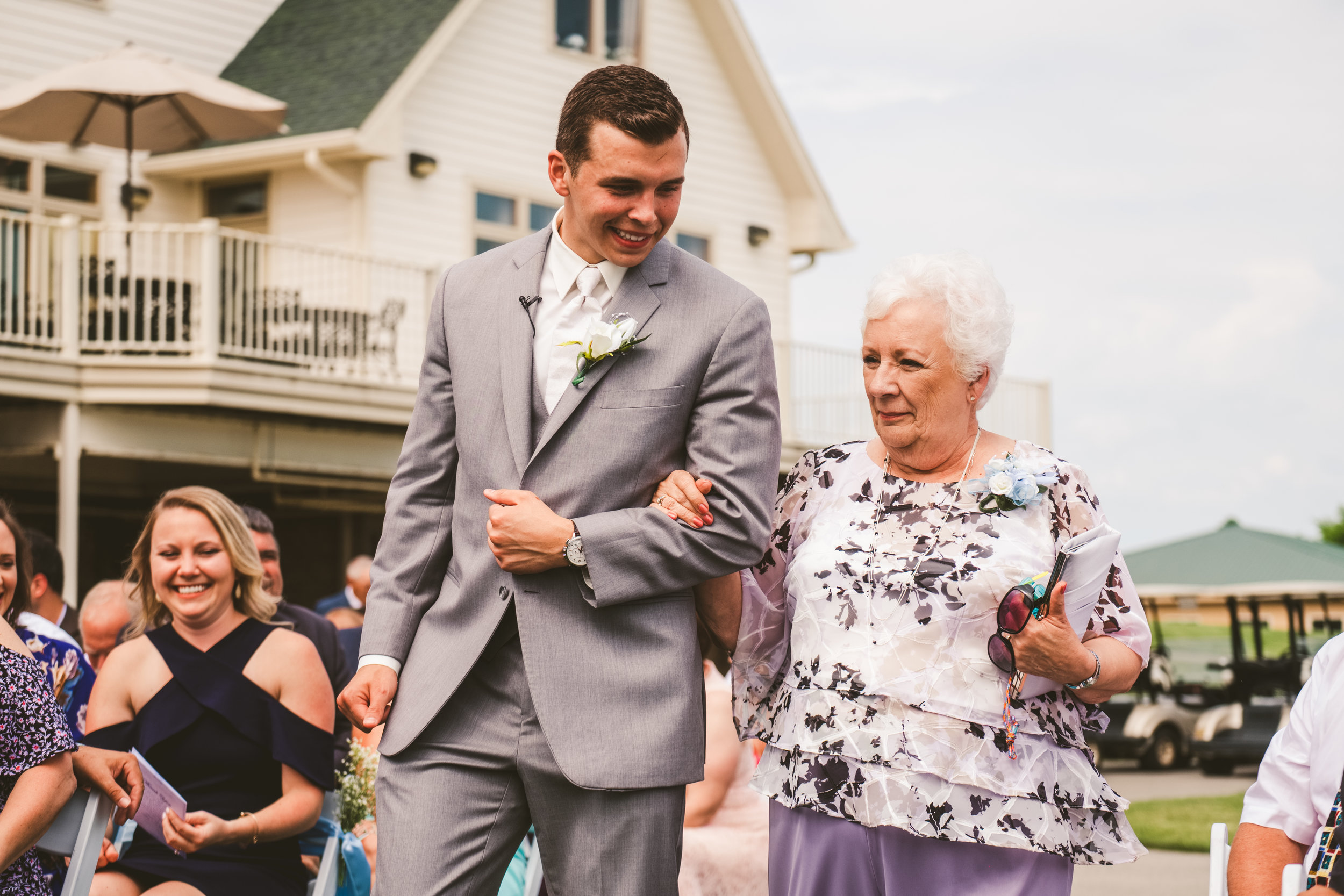 Groom and grandmother at Stone Ridge Golf Club for Wedding with Toledo Ohio Wedding Photographers