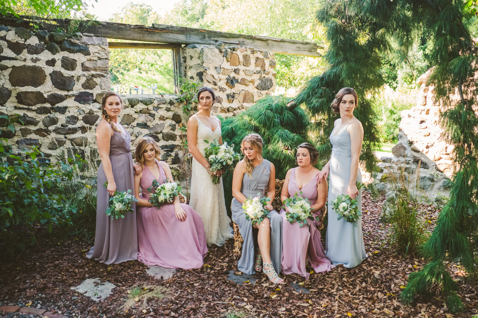 Bridesmaids at The Farm on Dover in Wisconsin with Toledo Ohio Wedding Photographers