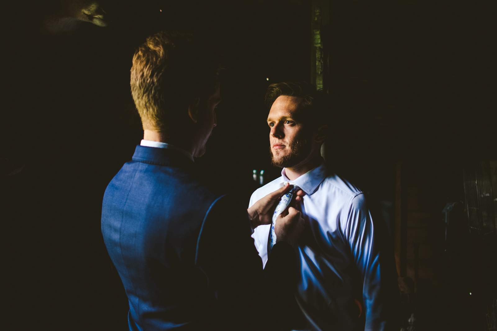 Groom Gets Ready for Wedding Day at the Farm at Dover with Toledo Area Wedding Photographers