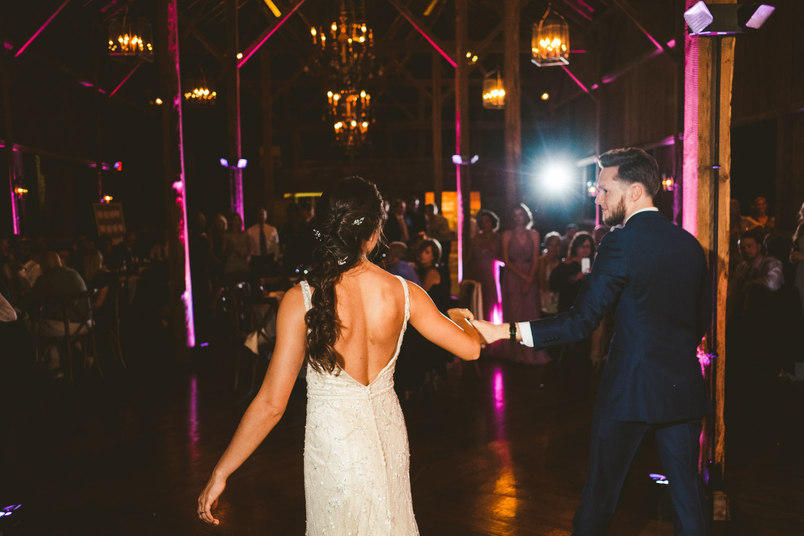 Couple performs the Waltz for their first dance.
