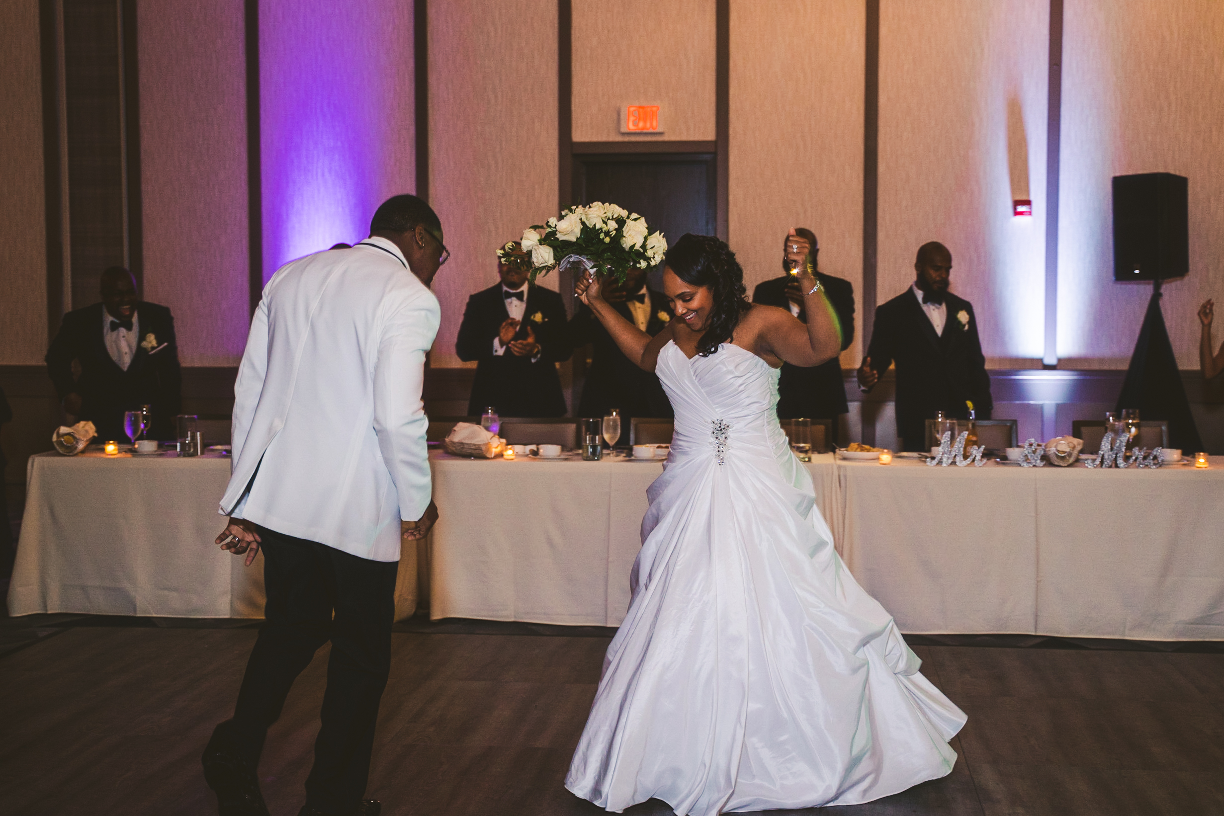 First Dance at Reception at Toledo Renaissance Hotel Downtown with Wedding Photographers